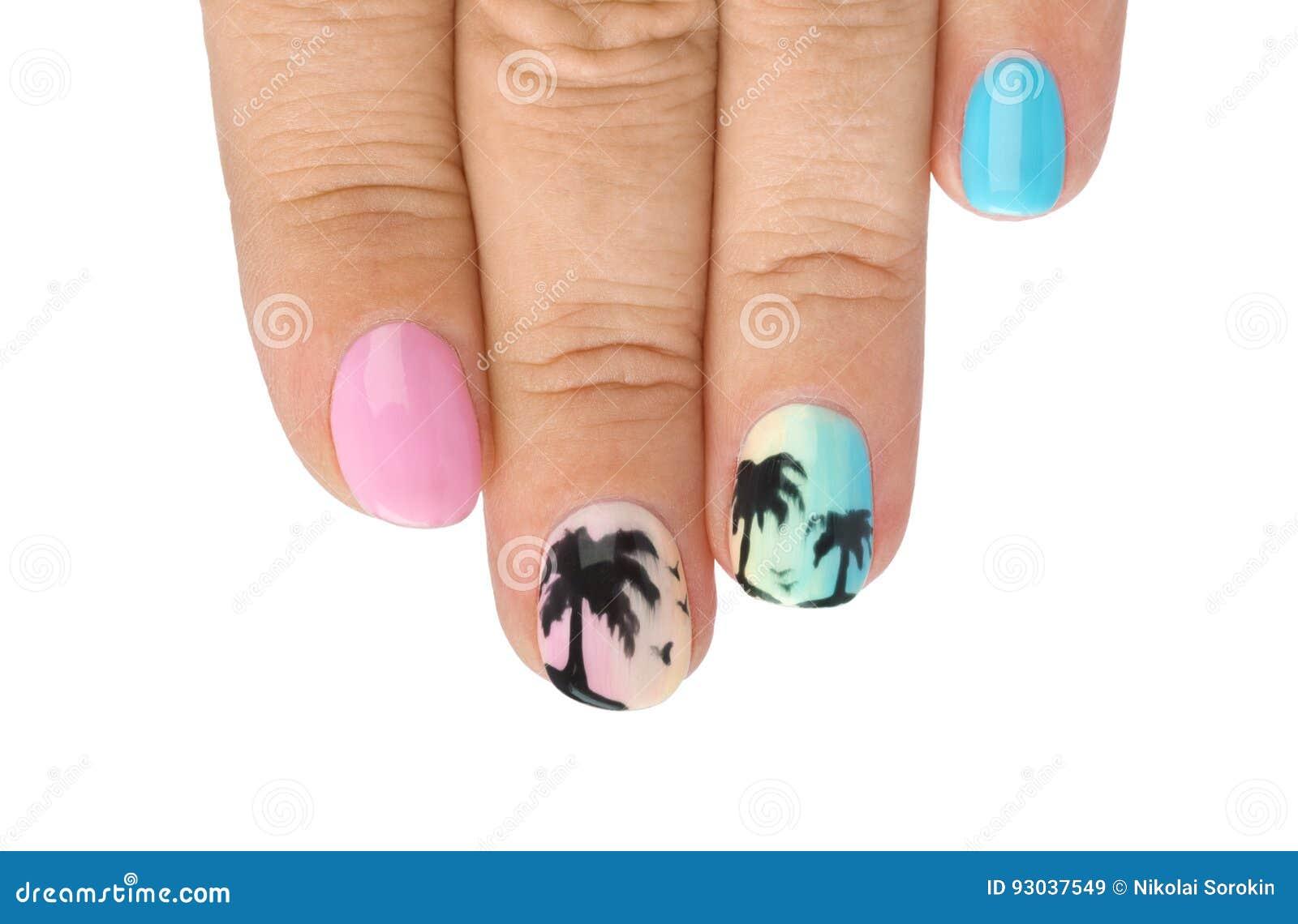 fingernagel mit muster modehintergrund - Fingernagel Muster Bilder