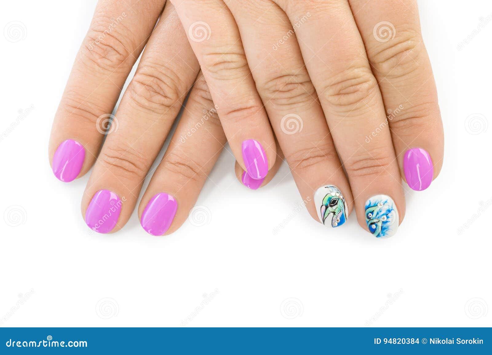 download fingernagel mit muster stockfoto bild von abschlu make 94820384 - Muster Fingernagel