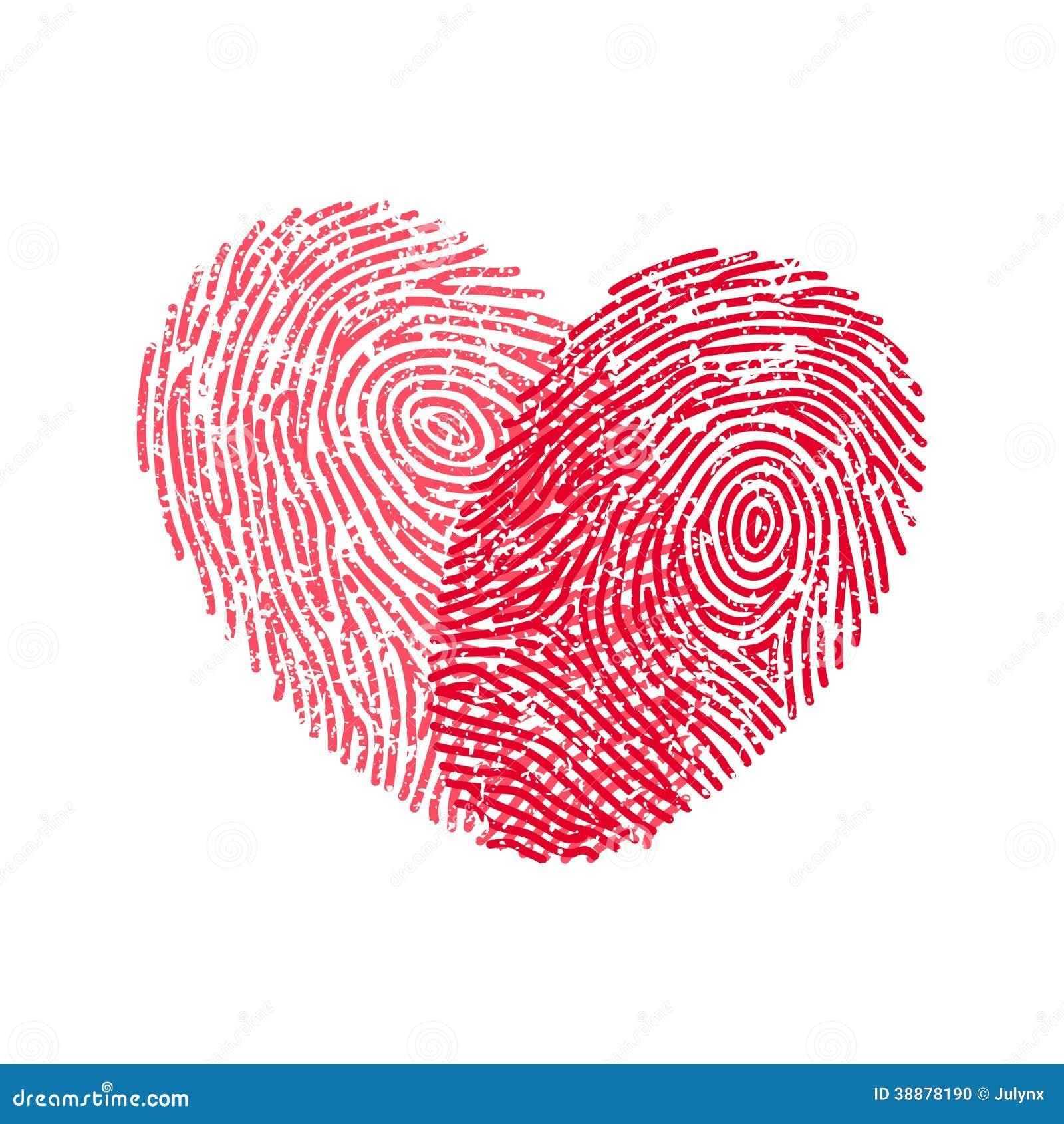 Fingerprint Heart Stock Vector Image 38878190