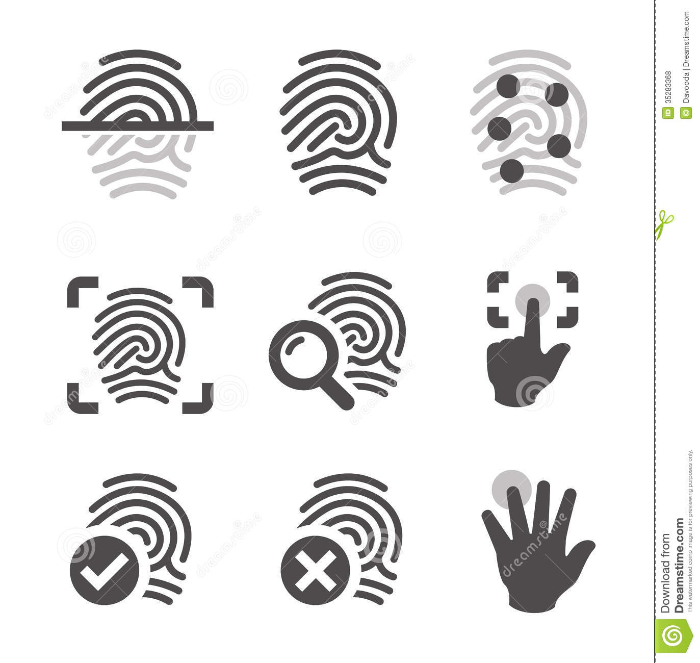 fingerprint cartoon vector