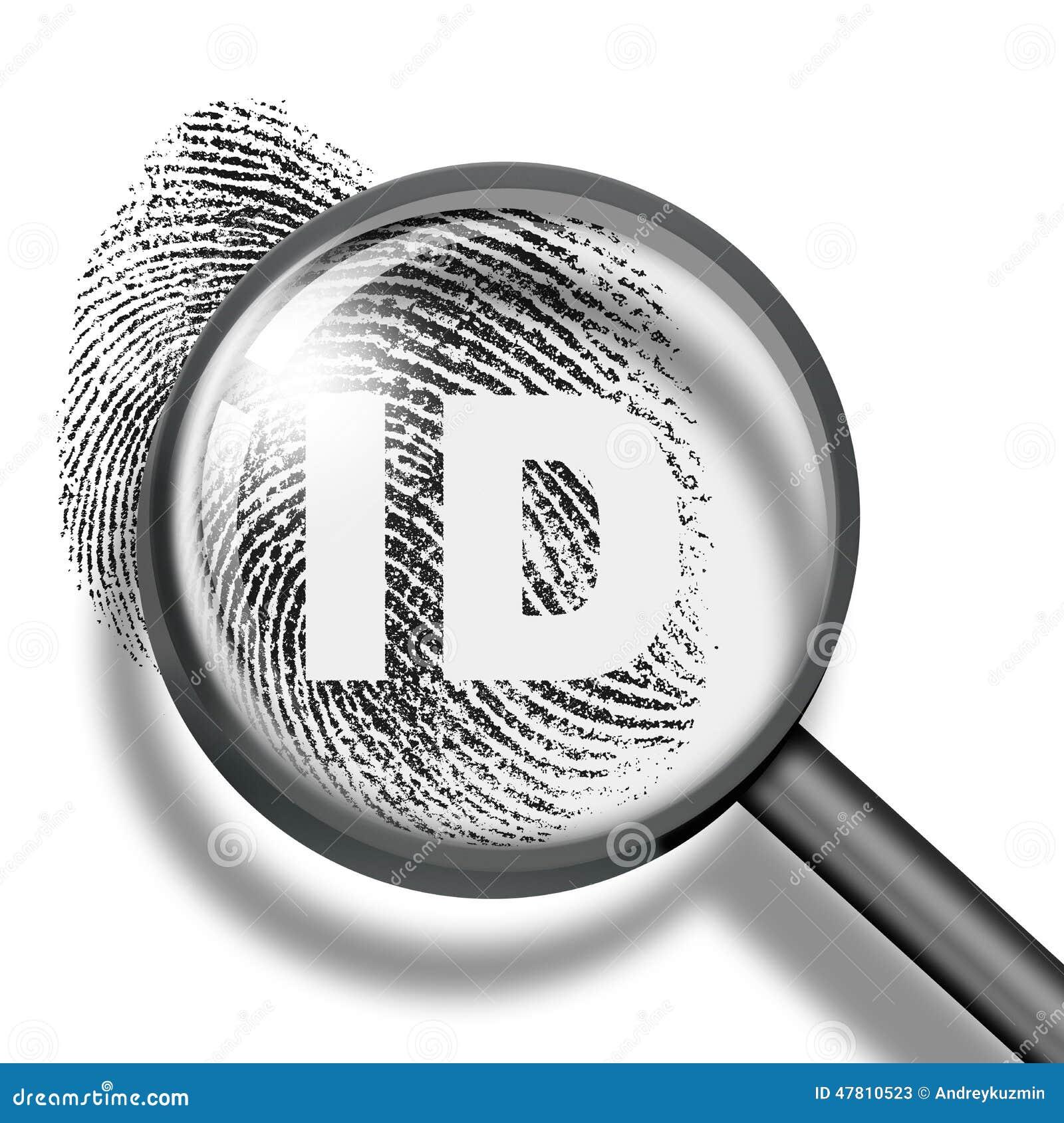 Fingerprint Identification Biometrics Concept Stock Photo