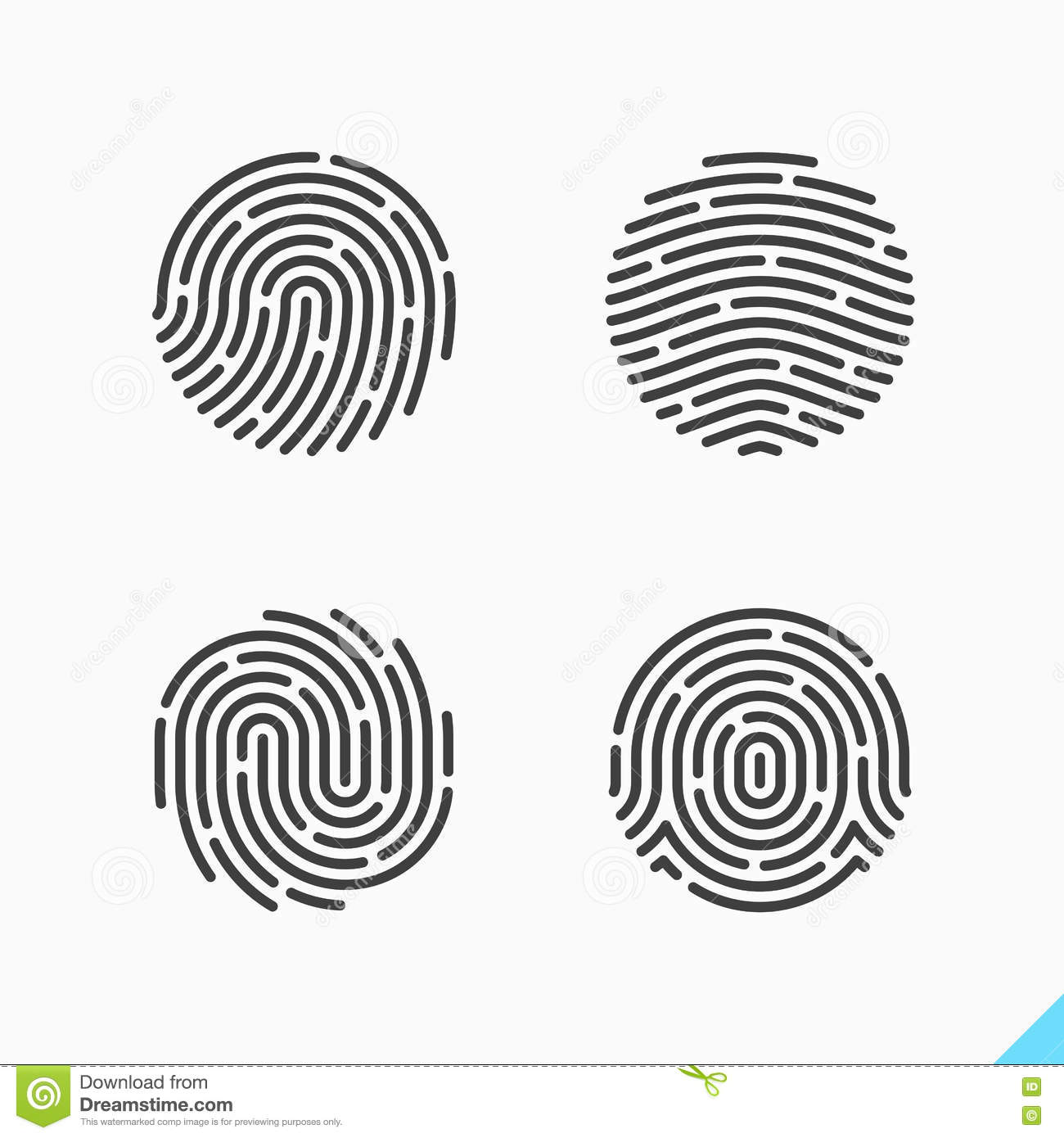 Fingerprint Recognition Icon Stock Vector - Image: 79095997