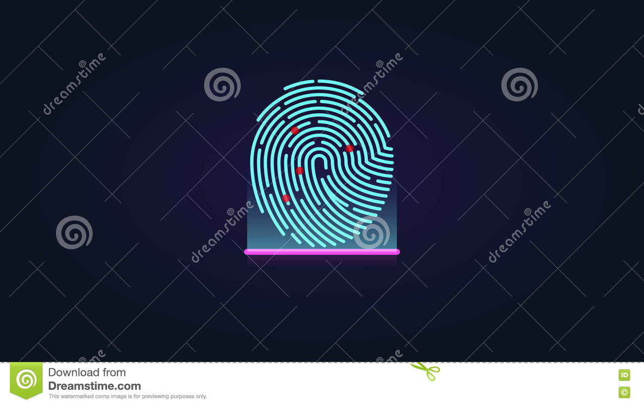 Fingerprint Scan Animation  Security Authorization Access