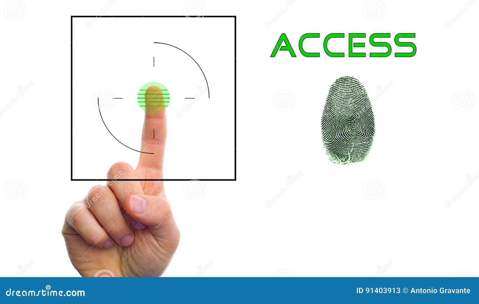 Fingerprint Scan Provides Security Access Stock Image