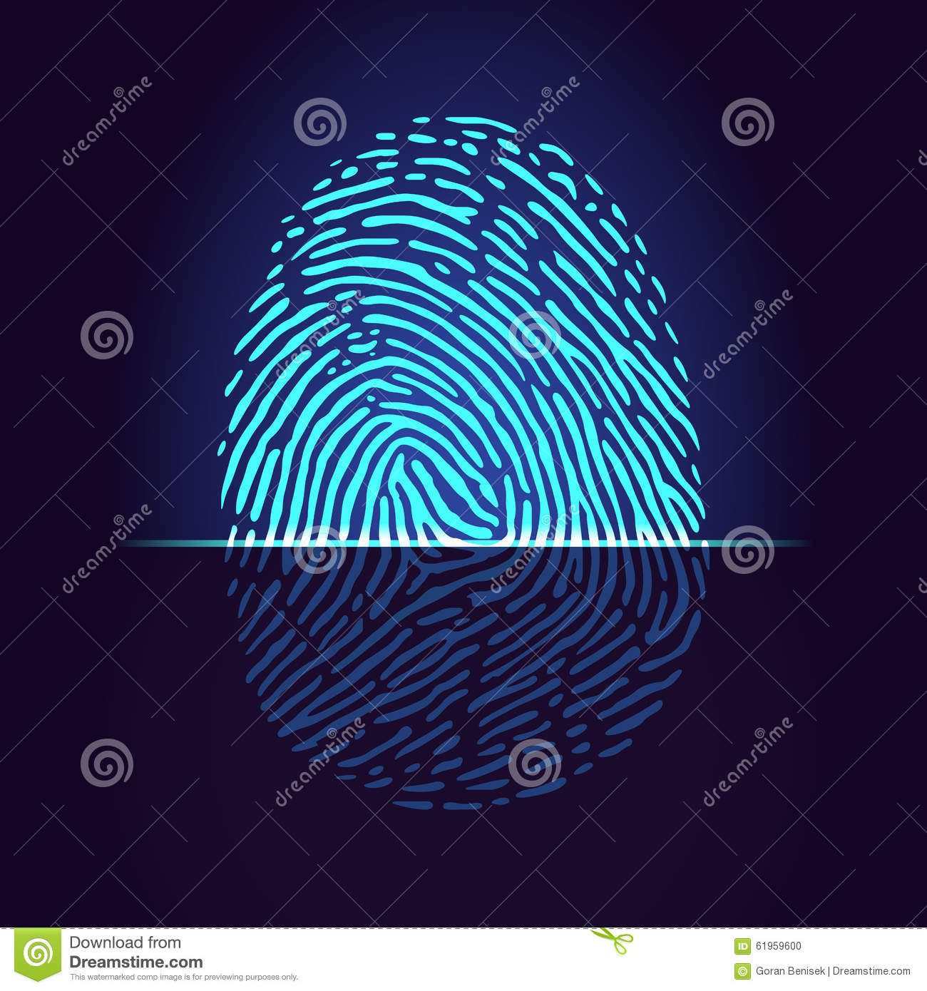 fingerprint scanner stock vector image 61959600