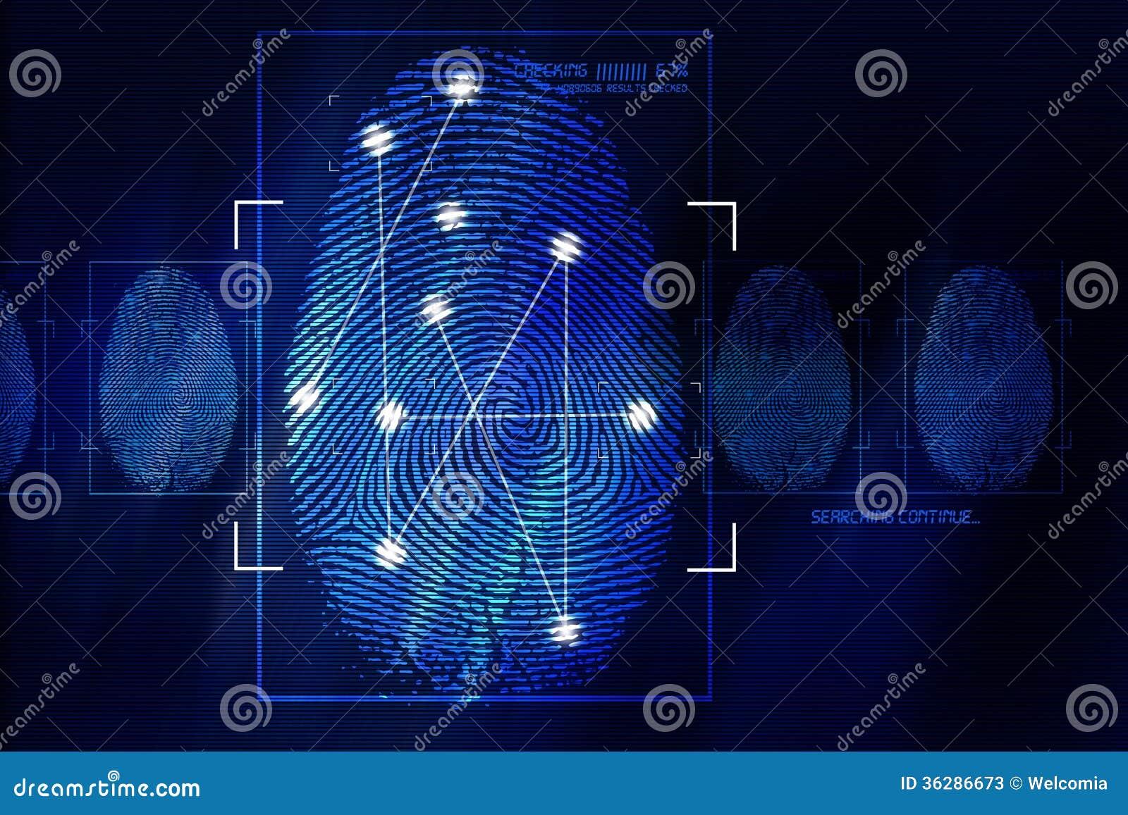 Fingerprint Scanning Technology Stock Photos - Image: 36286673