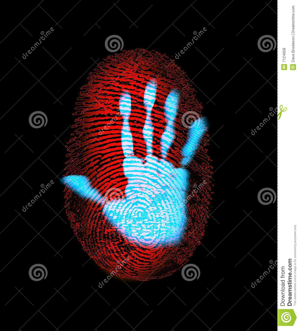 Fingerprint Security Hand Identity Theft Royalty Free