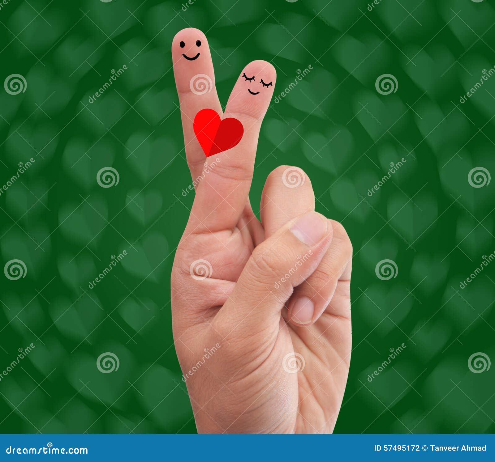 Fingers Crossed Making Romantic Pose Stock Photo Image Of Romance