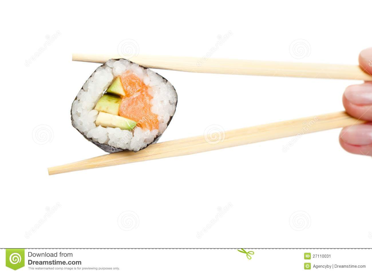 fingers holding sushi roll with chopsticks stock image seaweed illustration vector seaweed vector outline