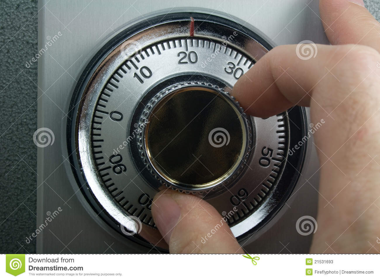 Fingers Turning Safe Dial Stock Photos Image 21531693