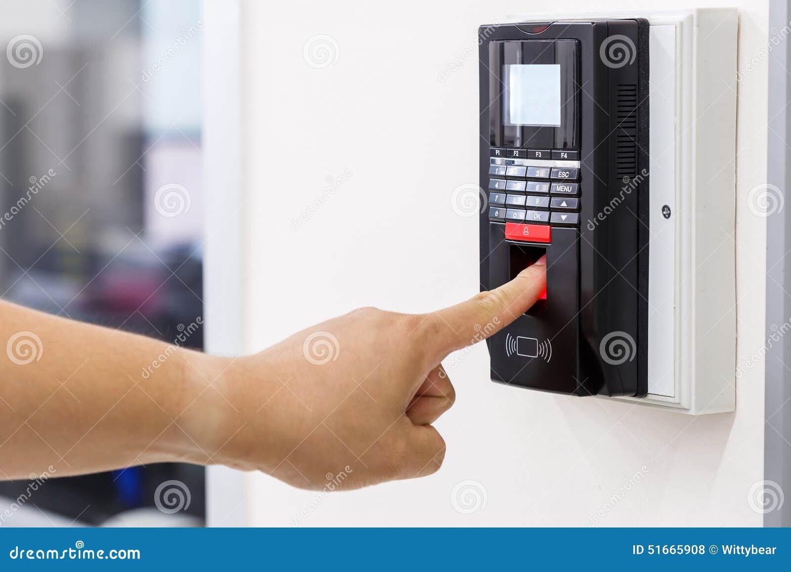 Fingerscan für Sicherheitssystem