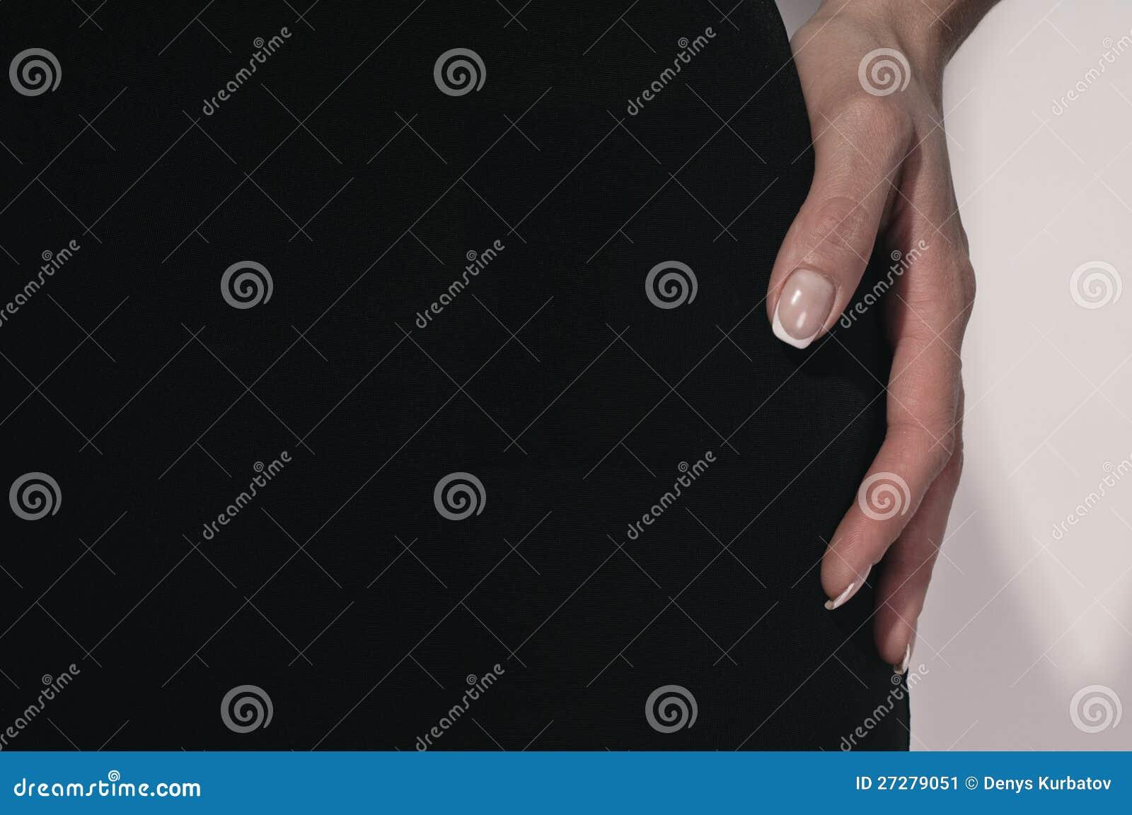 Fingrar av kvinnan
