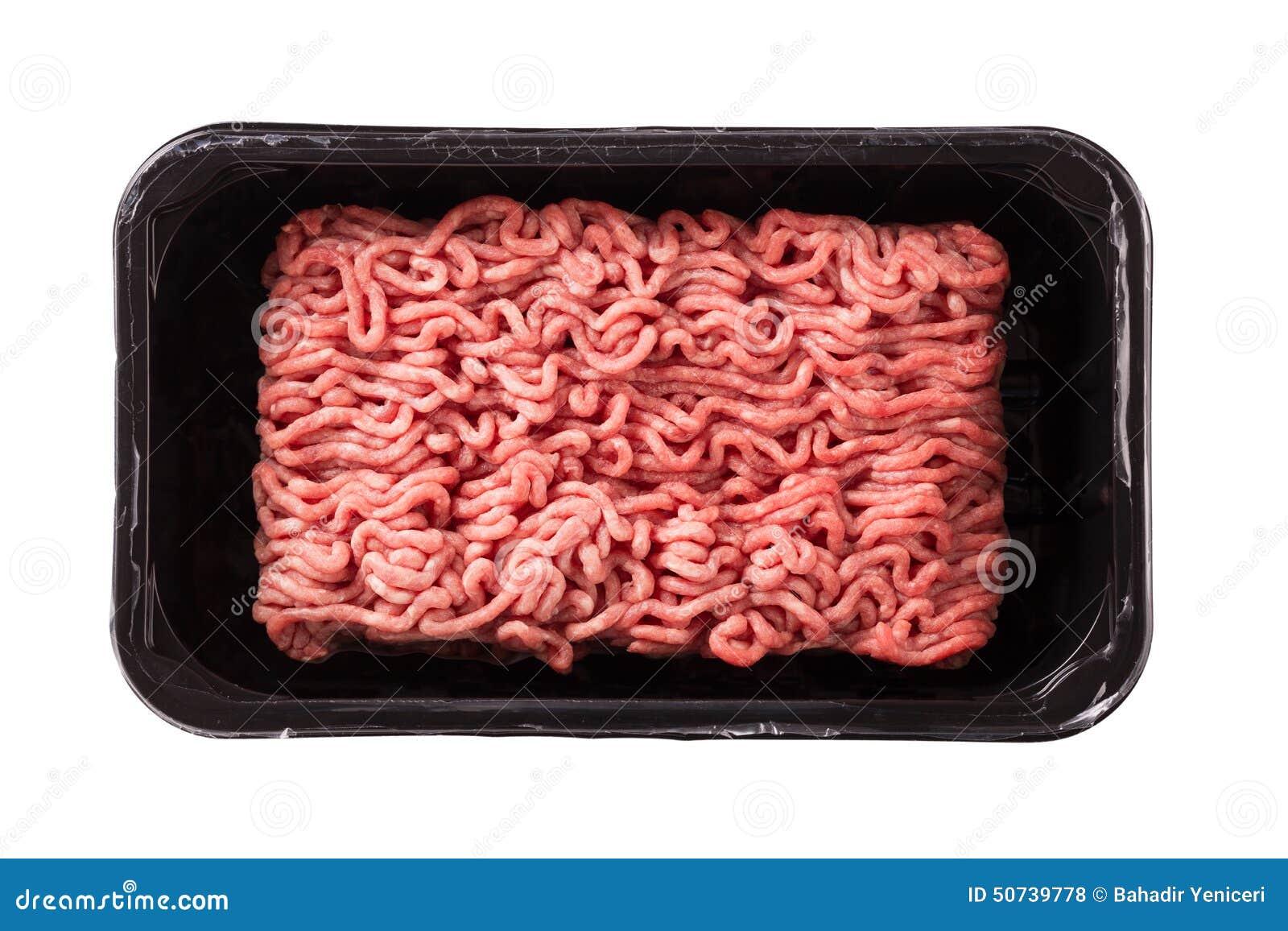 Finhackad tät meat förbereder klart till upp