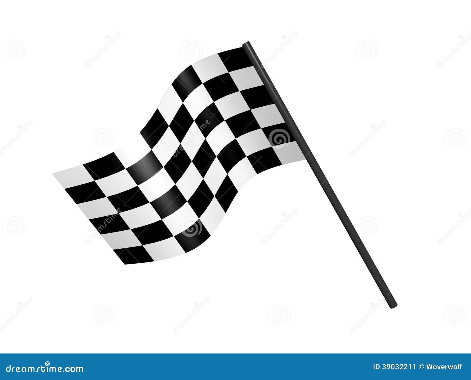 Racing Checkered Flag >> Finish Flag Stock Illustration - Image: 39032211