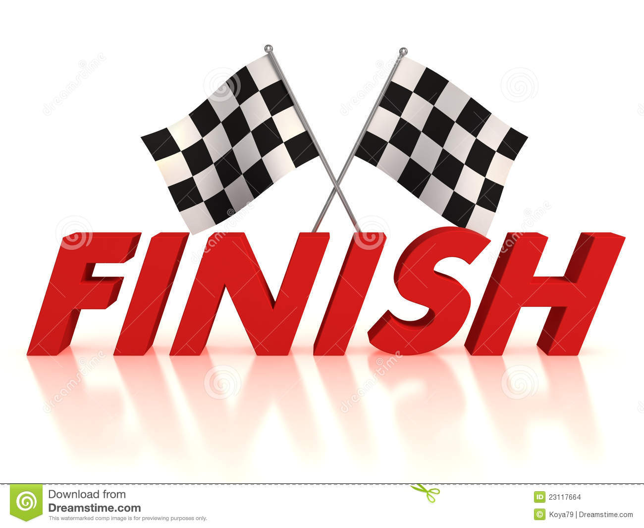 Finish Flags Stock Images - Image: 23117664