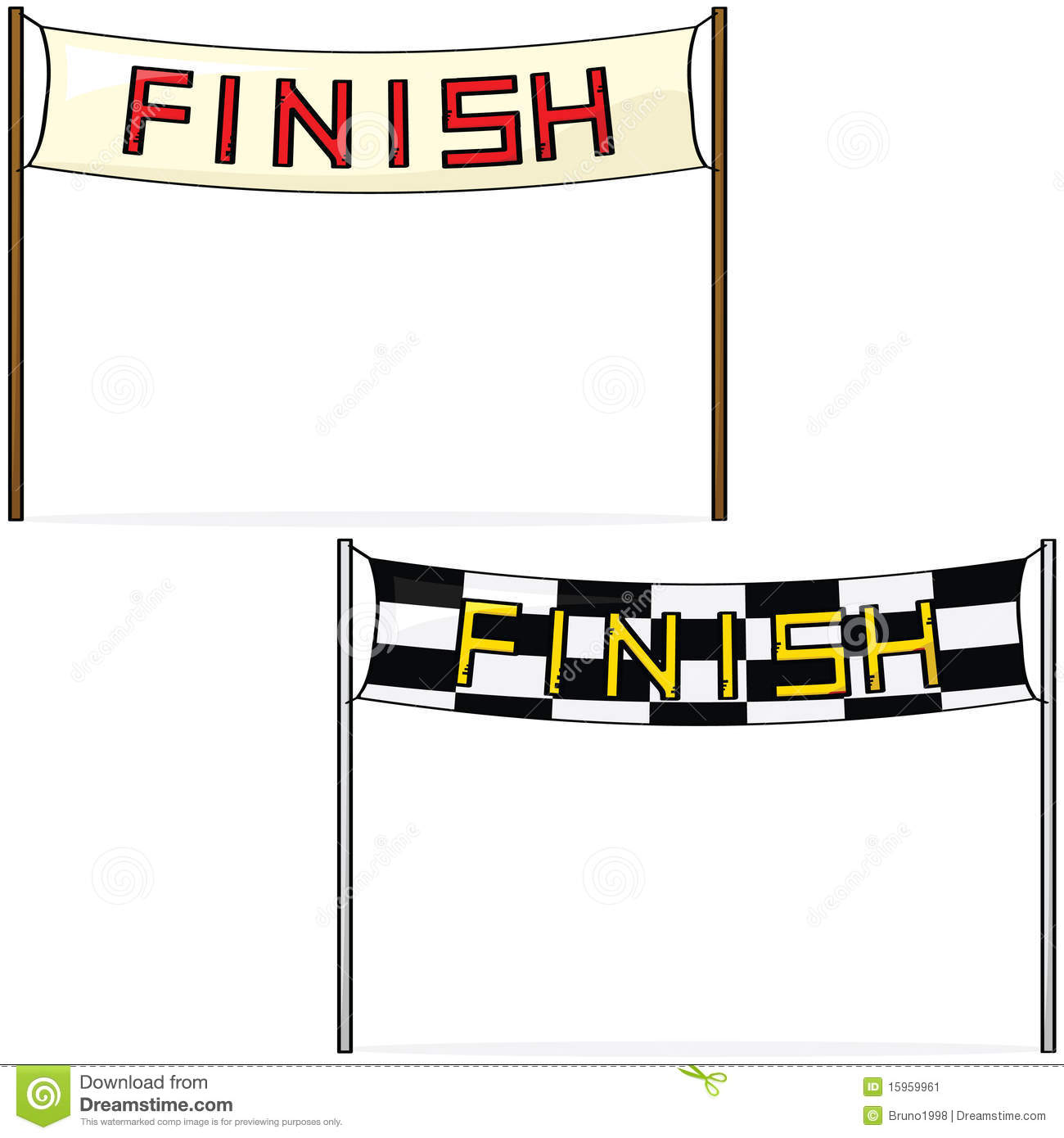 Finish line stock vector. Image of competition, drawing ...