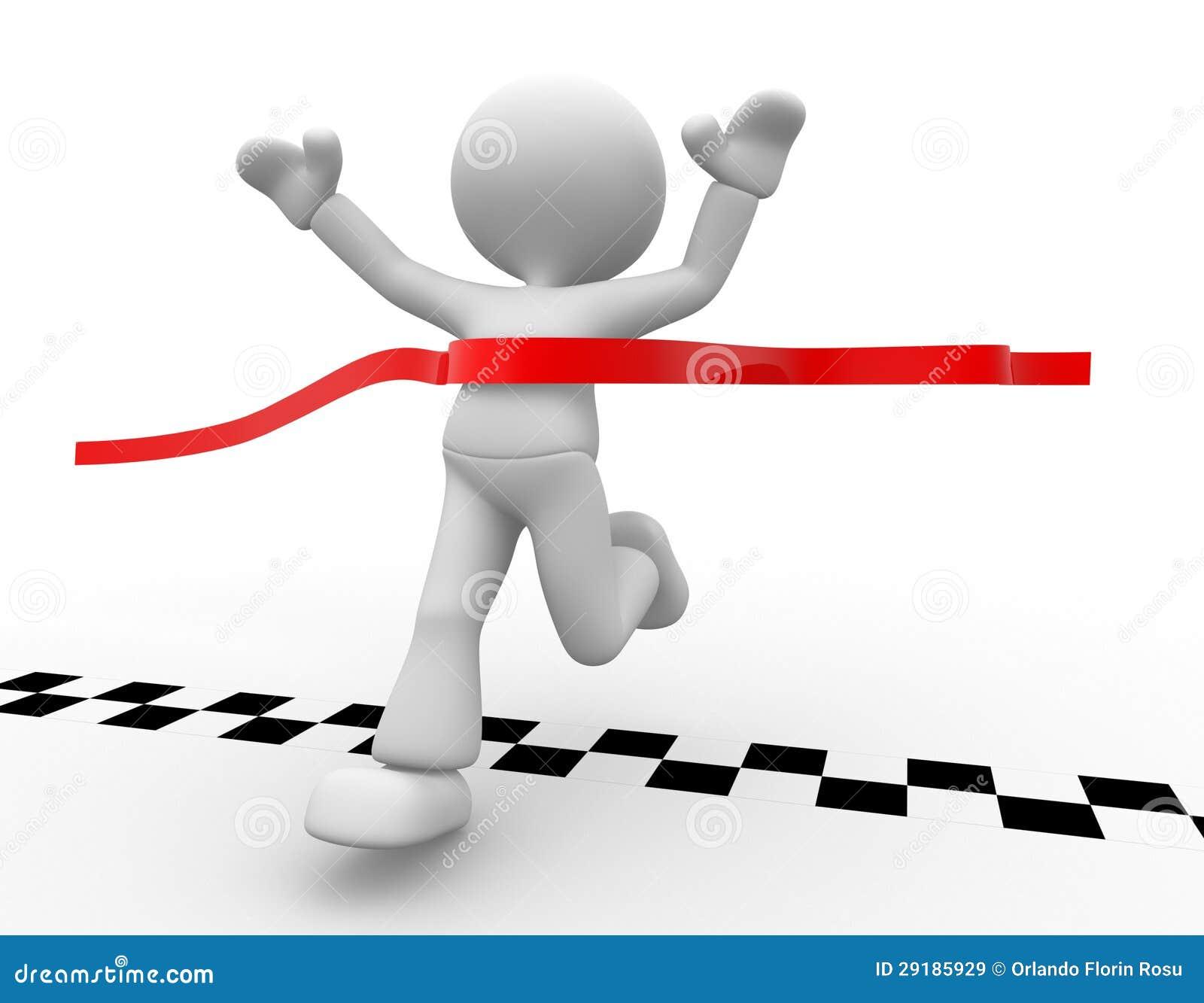 Finish Line Royalty Free Stock Images - Image: 29185929