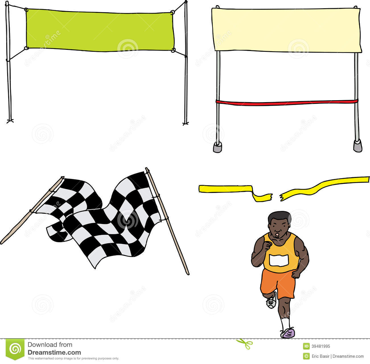 running race start cartoon