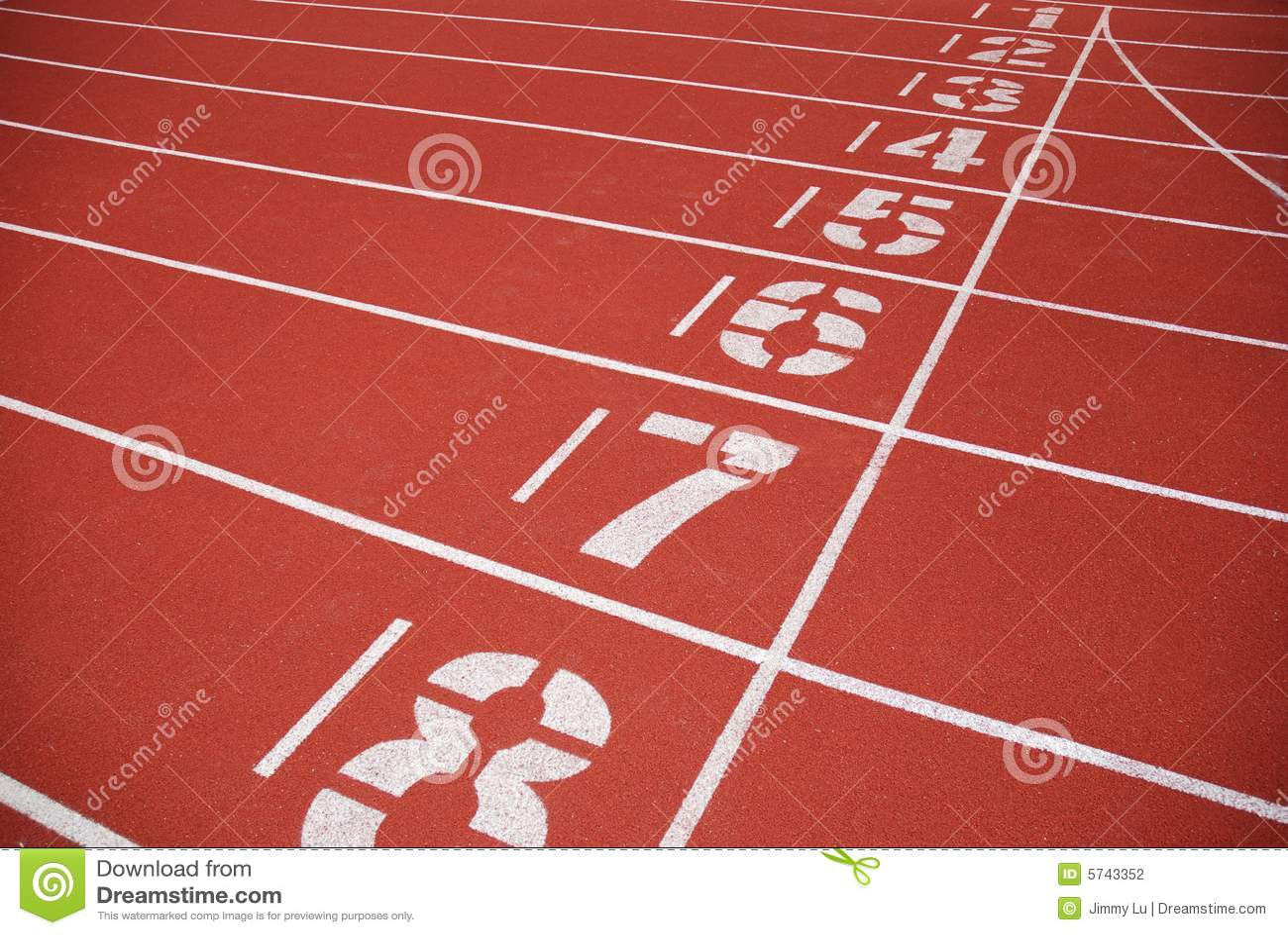 Finish Line Photography: Finish Line Of Running Tracks Stock Photography
