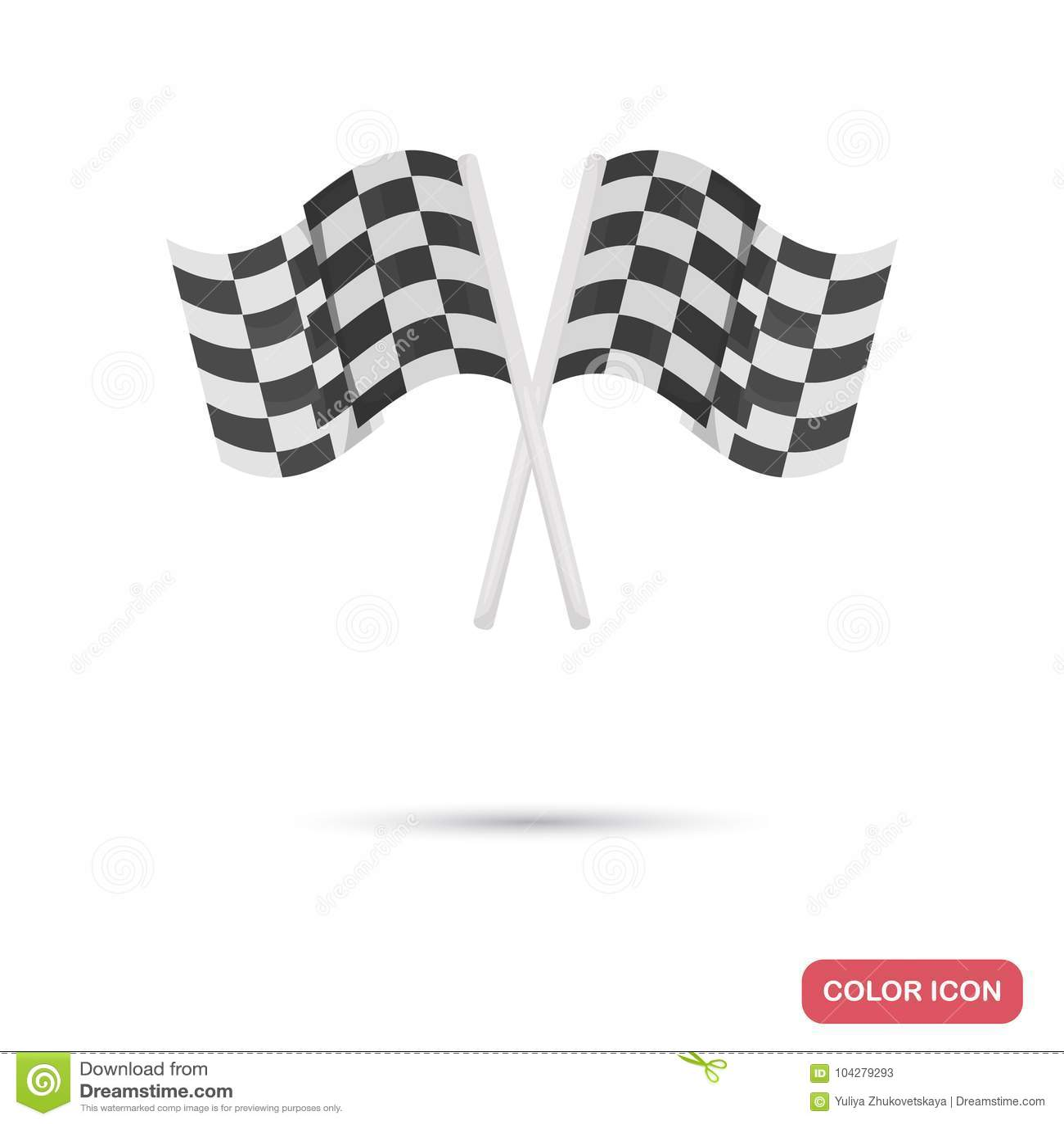 finish track flags color flat icon stock illustration illustration