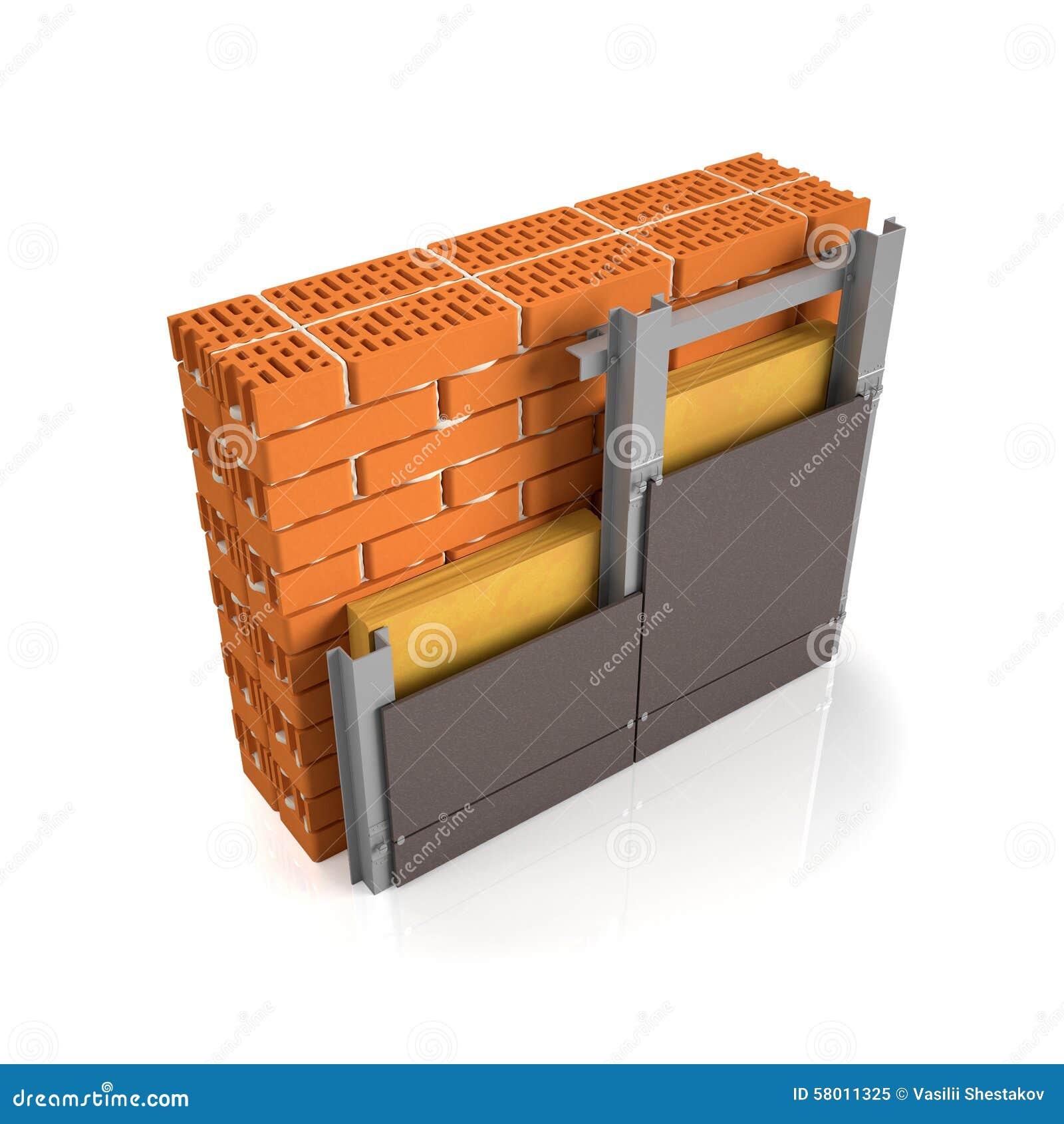 Brick Wall Design Manual : Finishing brick wall tiles stock illustration image