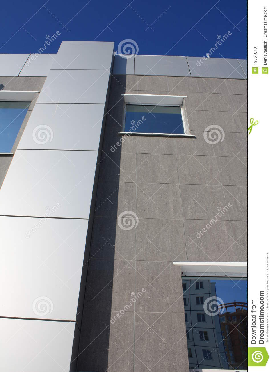 Finishing Building Facade With Modern Materials Stock