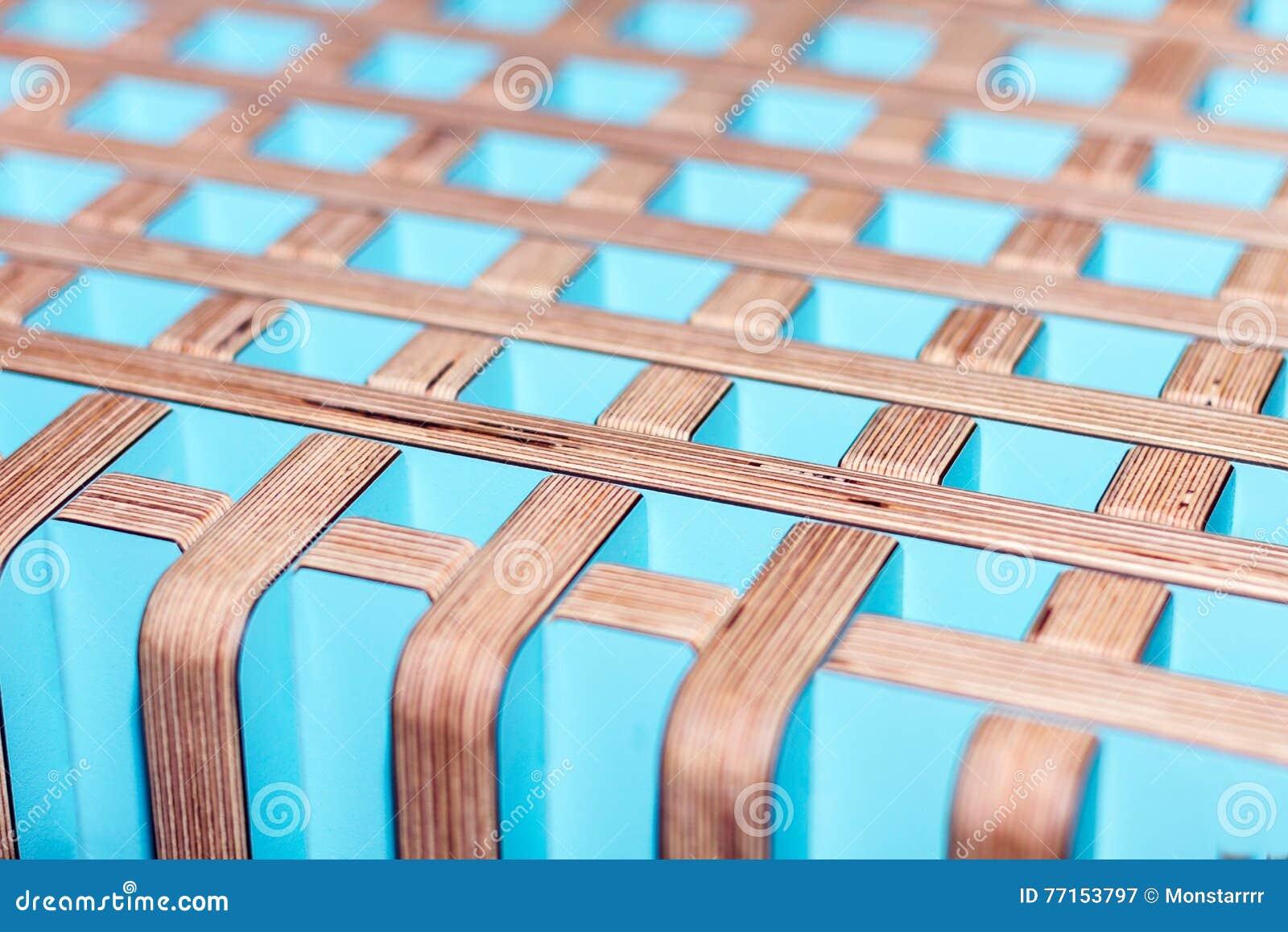 Finition intérieure décorative en bois colorée