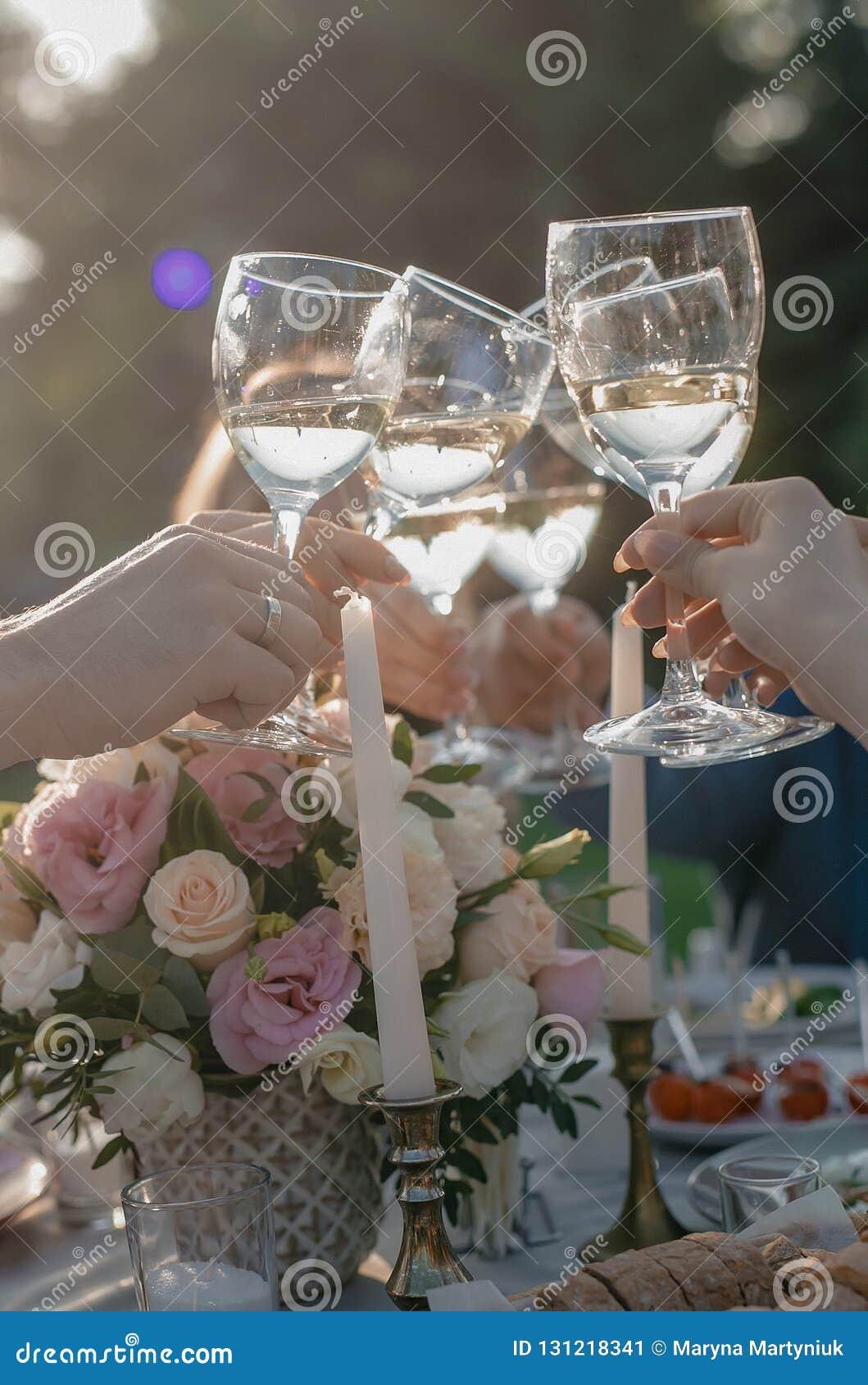 Finkaexponeringsglas av champagne