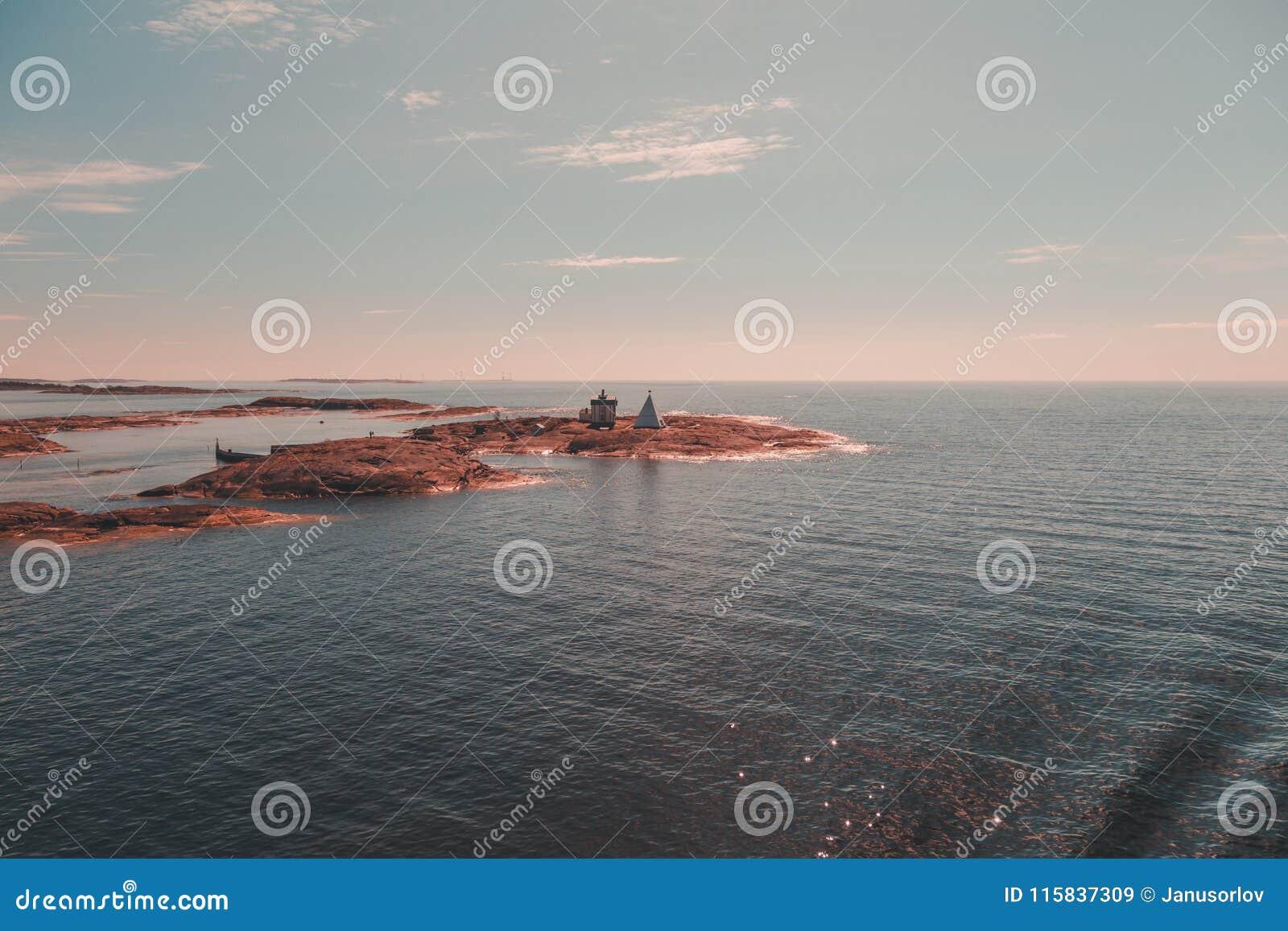 Finland Aland, buitenmariehamn is de oude proefpost Kobba Klintar Nu dagen is er een museum op het eiland