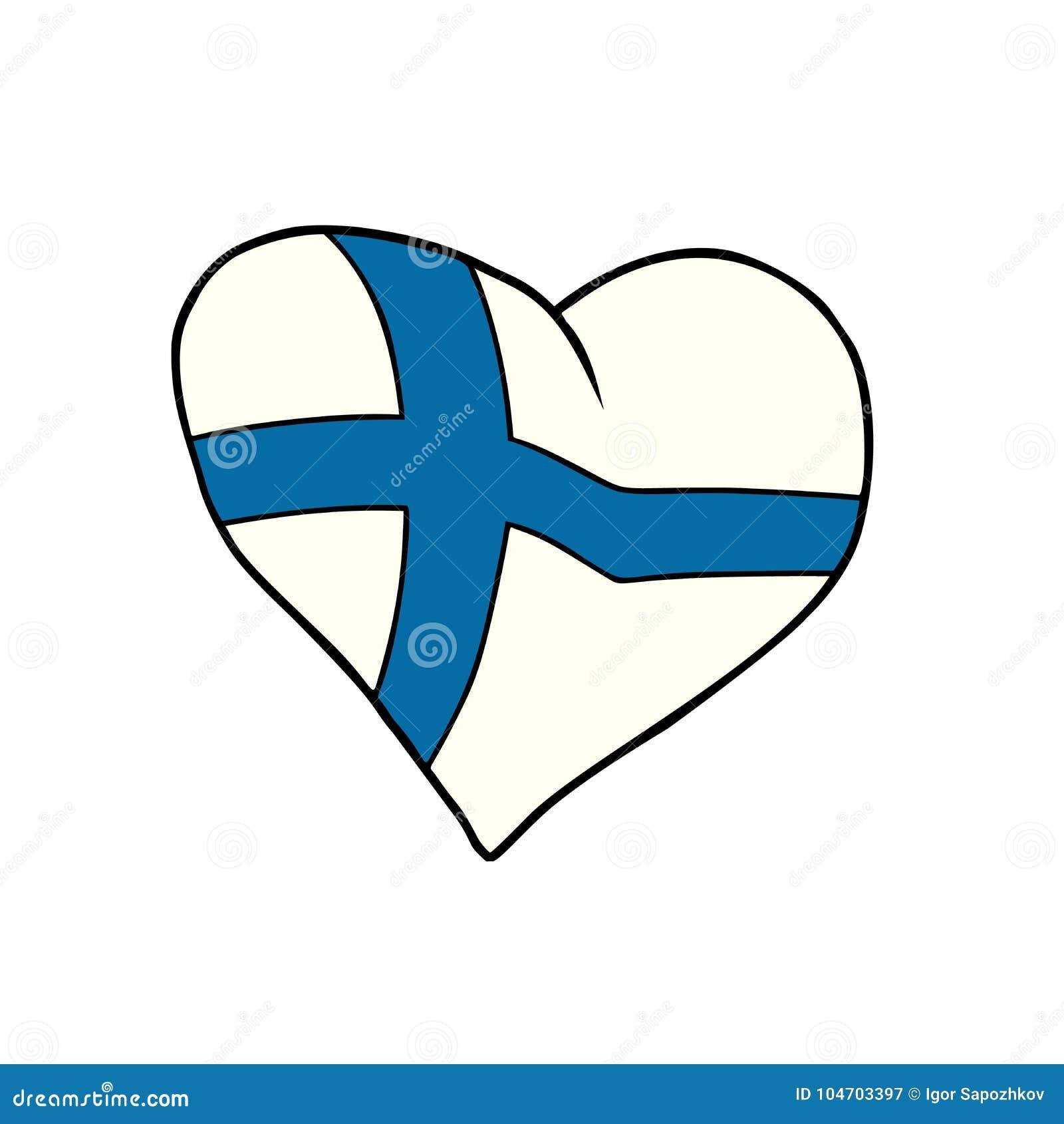 Finland Heart Patriotic Symbol Stock Vector Illustration Of Glory