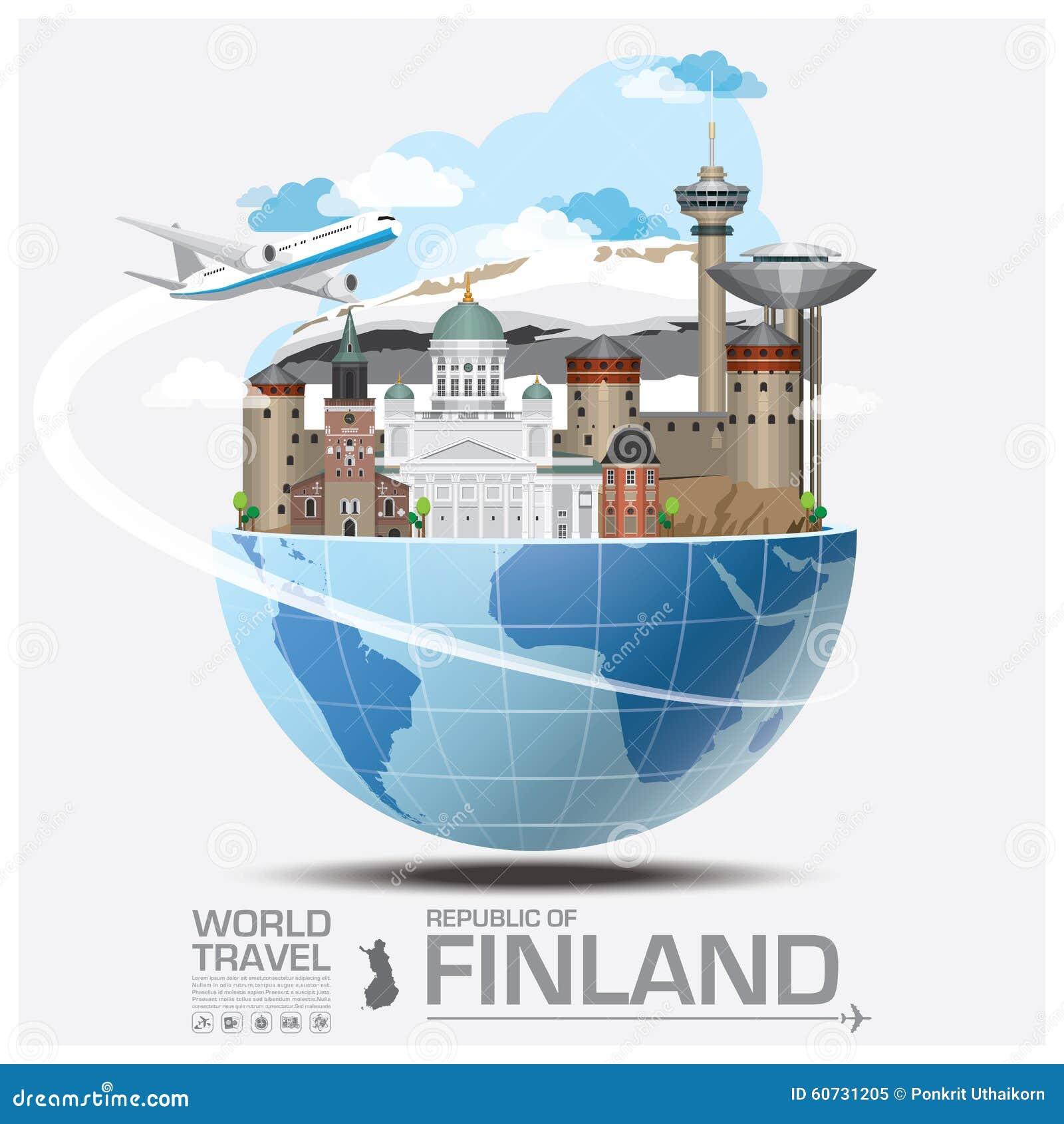 finland landmark global travel and journey infographic