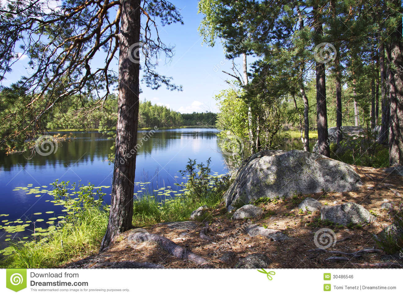 Log cabin on a lake royalty free stock photography image 7866317 - Finland Summer Day By A Lake