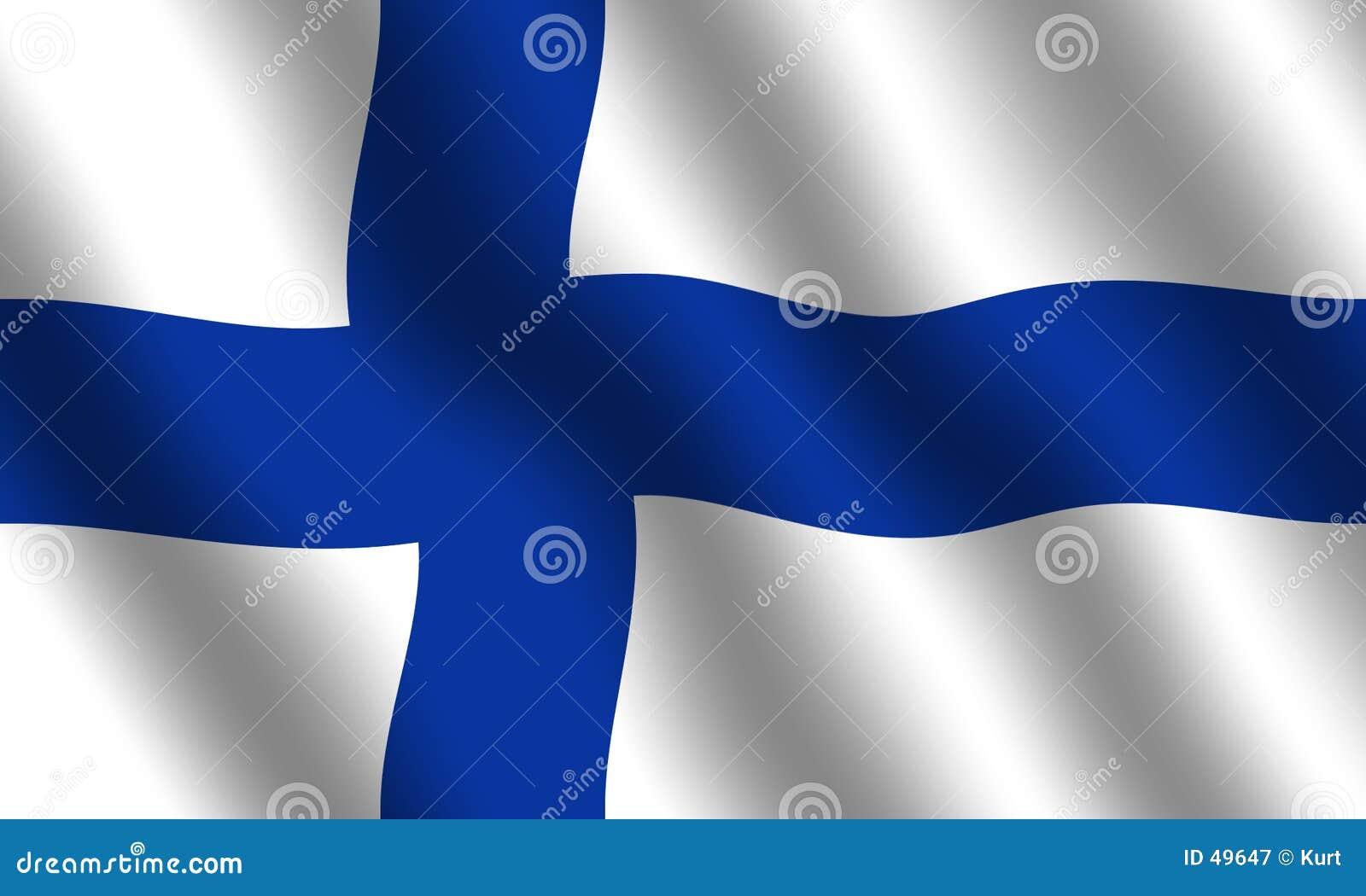Finnish flagę