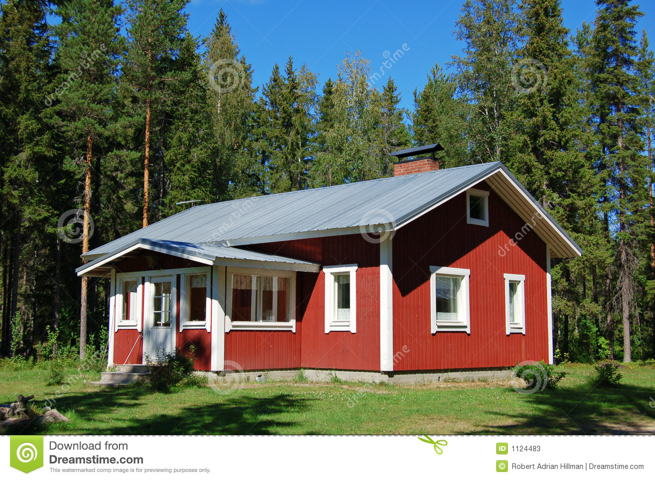Finnish house stock image. Image of summer, bungalow ...