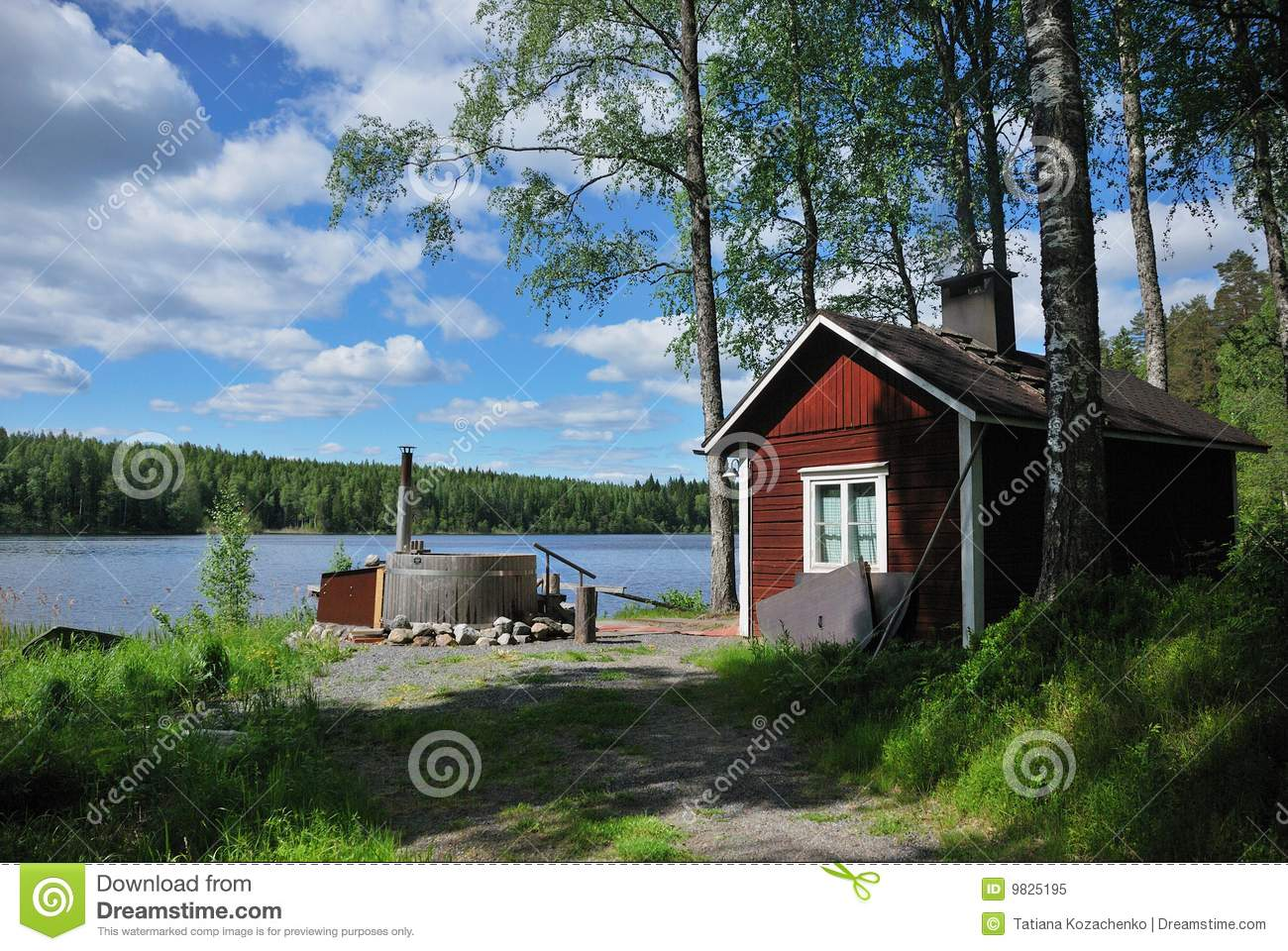 Finnish sauna and hot tub stock image. Image of tranquil - 9825195