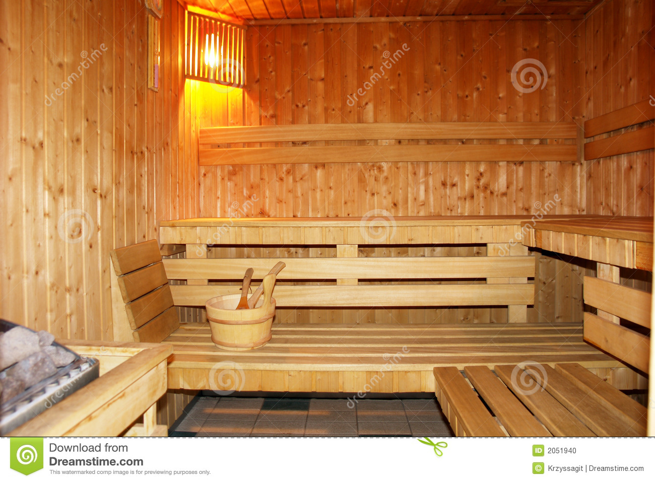 Finnish Sauna Interior Stock Photo Image Of Beds