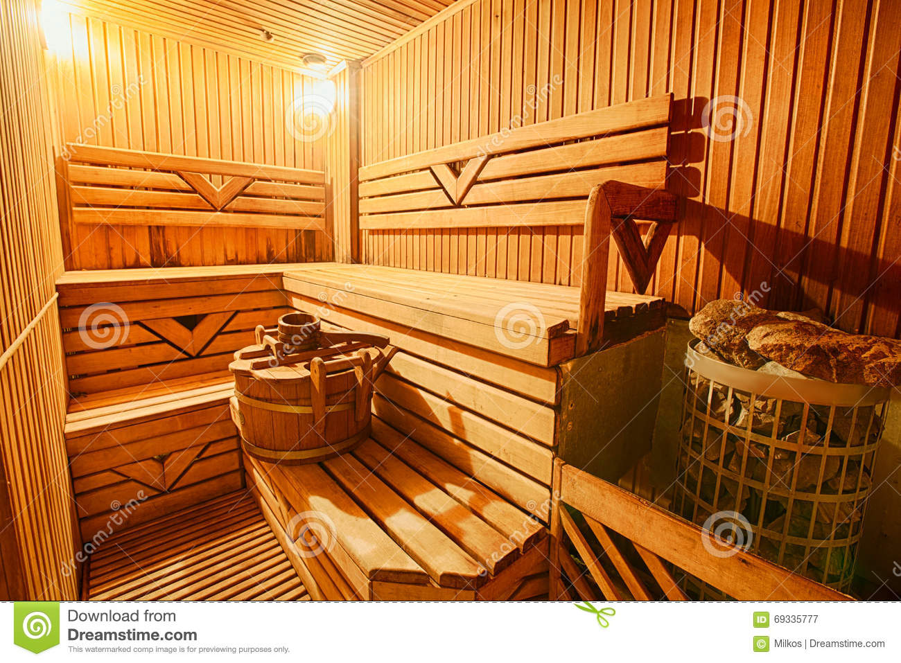 finnish wooden modern empty sauna interior stock photo. Black Bedroom Furniture Sets. Home Design Ideas