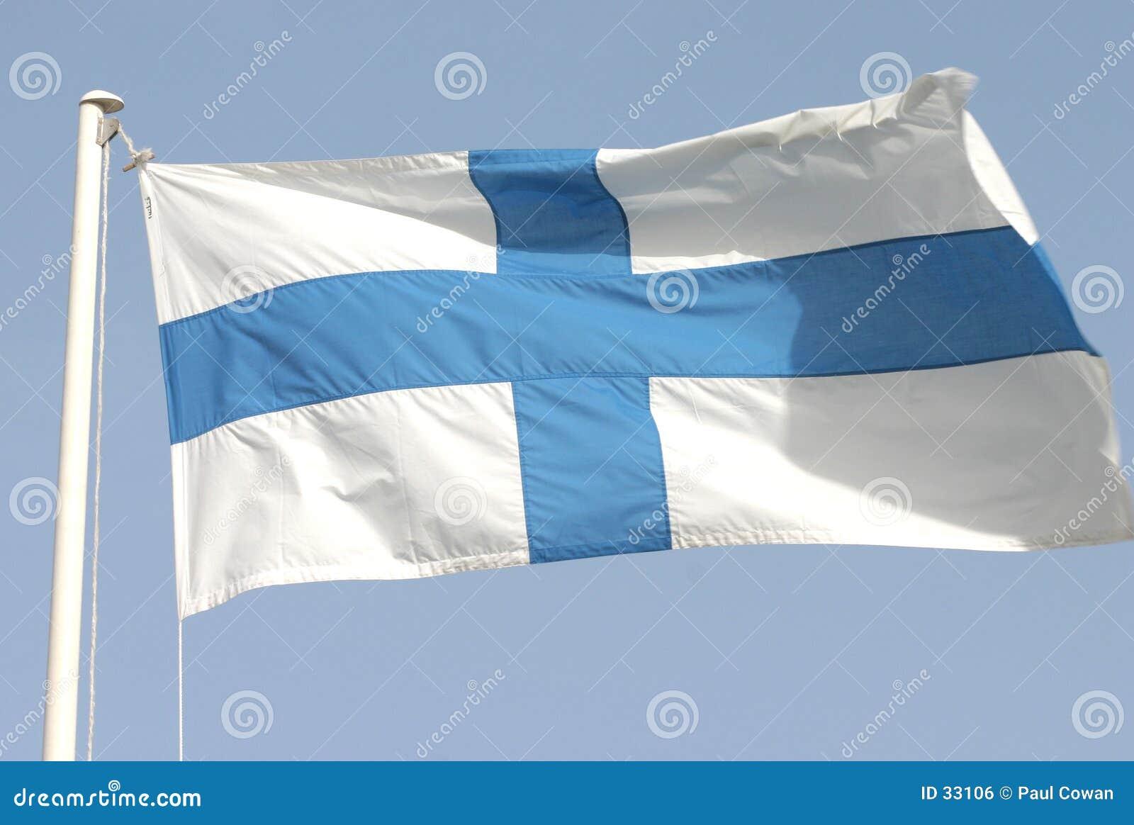 Finnlands Markierungsfahne