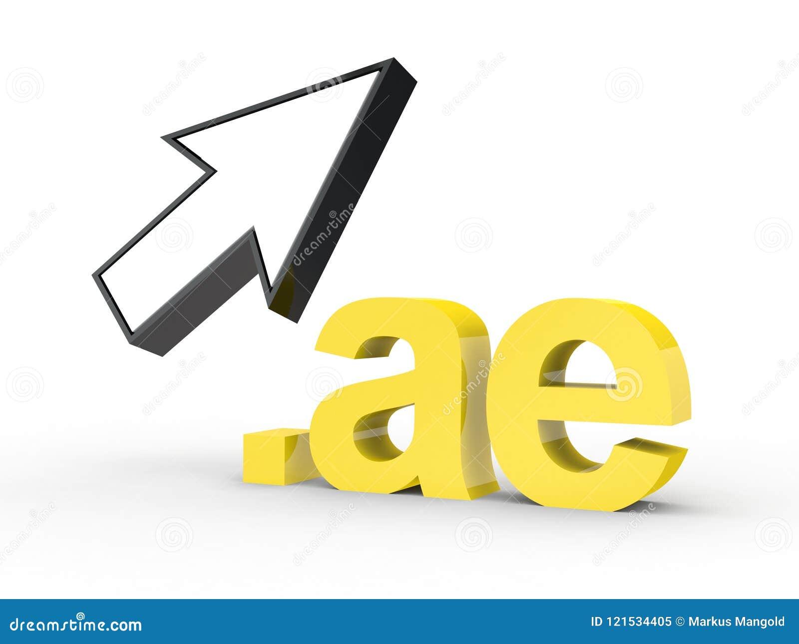 Fins d adresse de Domain Name de site Web avec la flèche