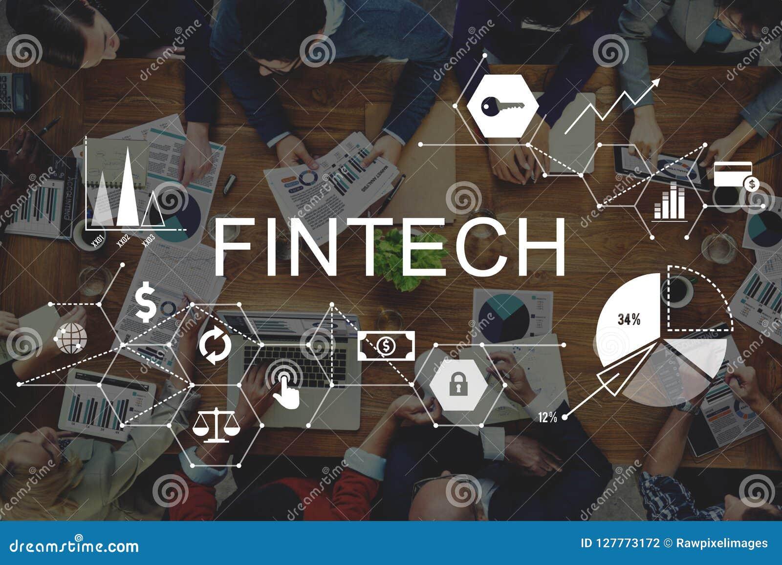 Fintech-Investitions-Finanzinternet-Technologie-Konzept
