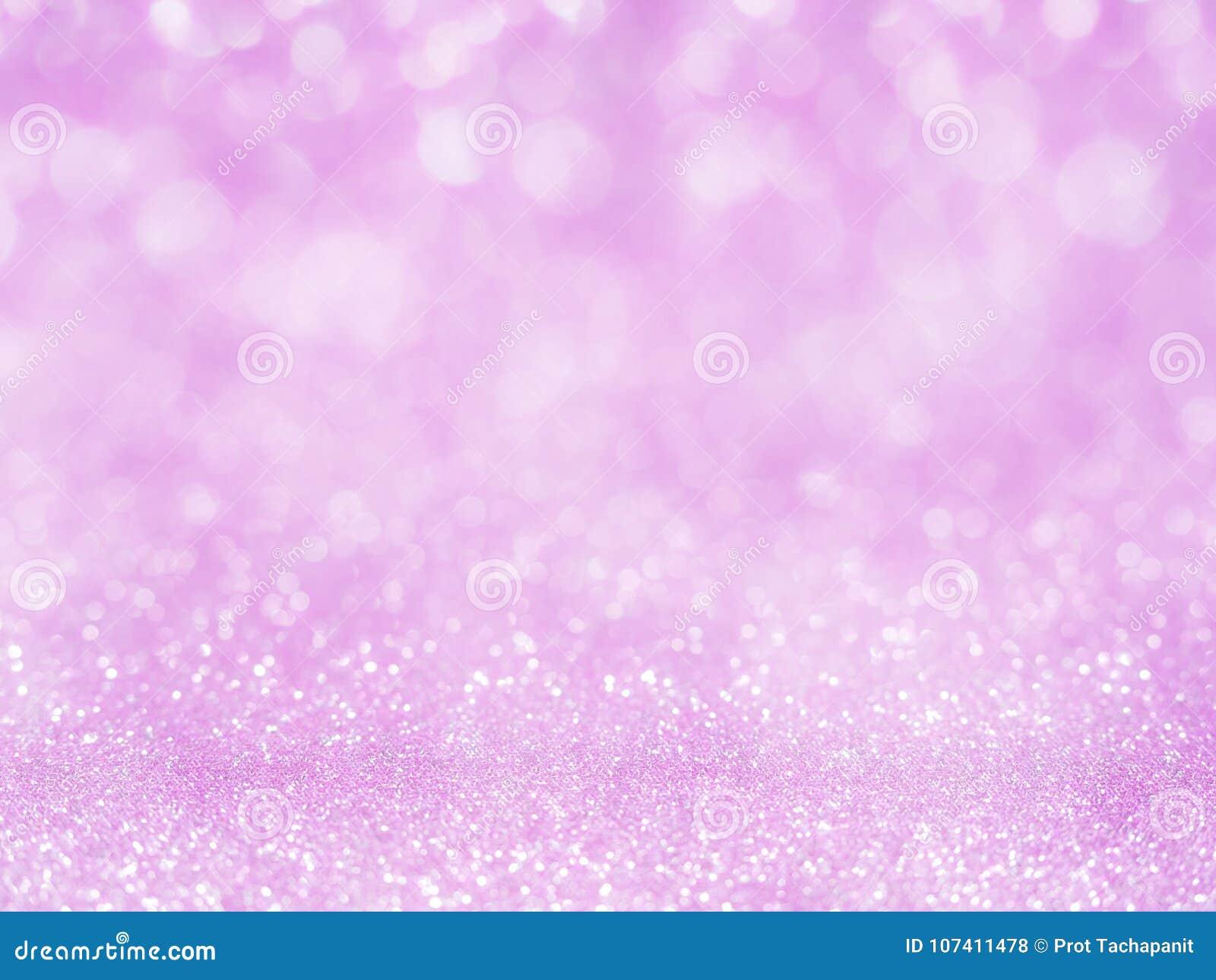 Fiołkowy abstrakcjonistyczny błyskotliwości tło z bokeh światło miękkiej części rozmyte menchie dla romansowego tła, lekkiego bok