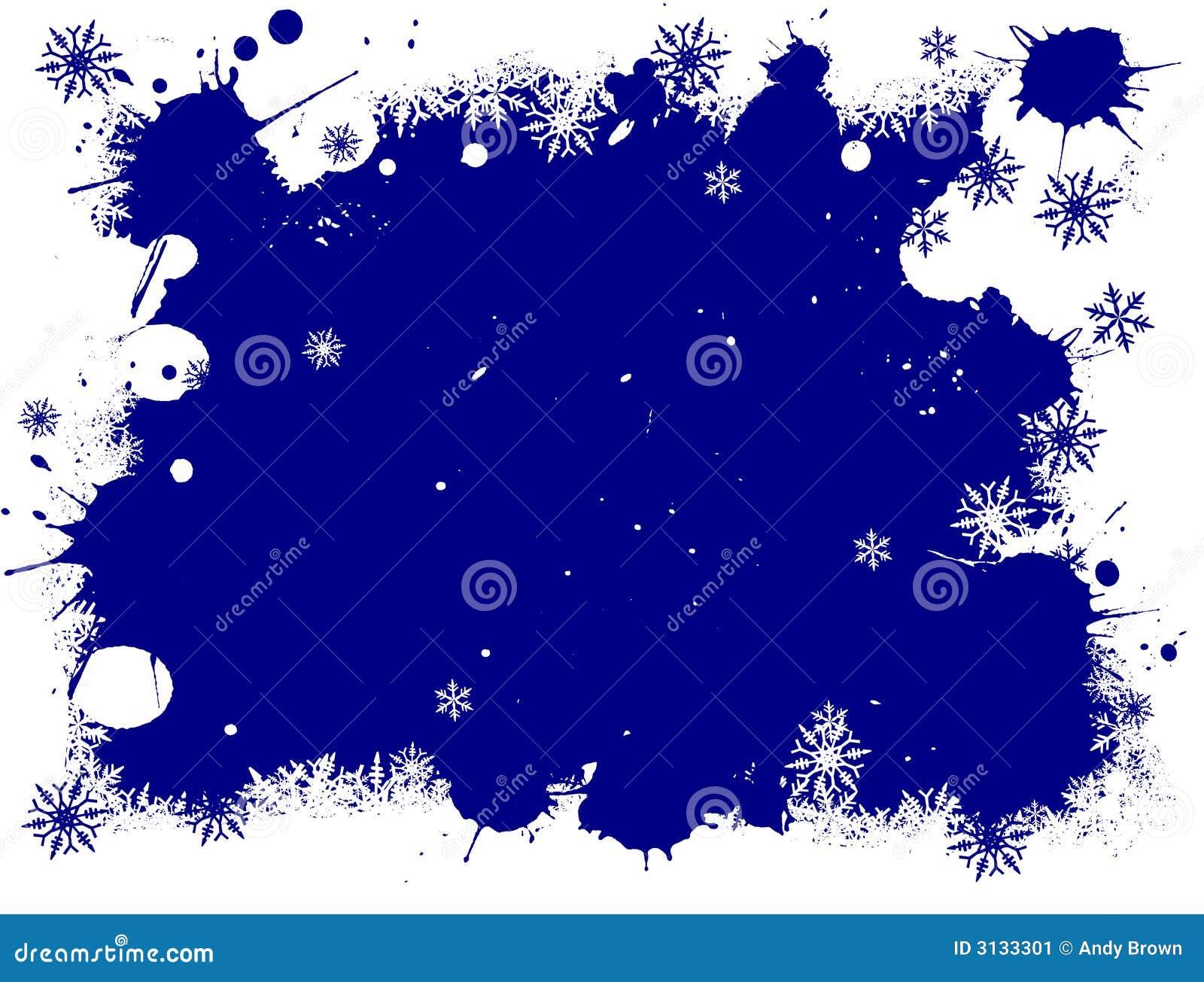 Fiocchi di neve bianchi e blu