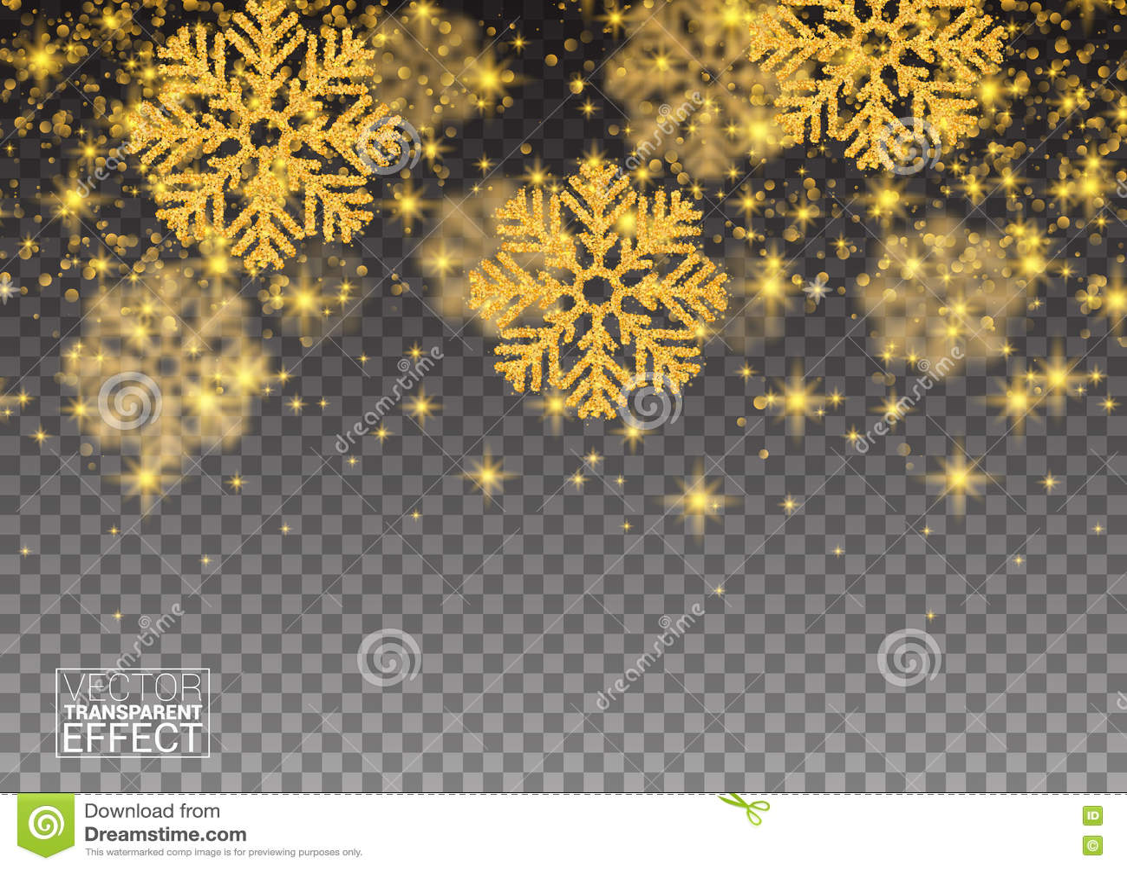 Fiocchi Di Neve Di Carta Modelli : Fiocchi di neve di caduta casuali dell oro del modello astratto di