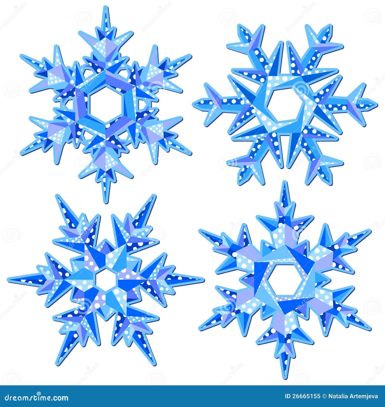 Favoloso Fiocchi di neve di Origami illustrazione vettoriale. Immagine di  TN12