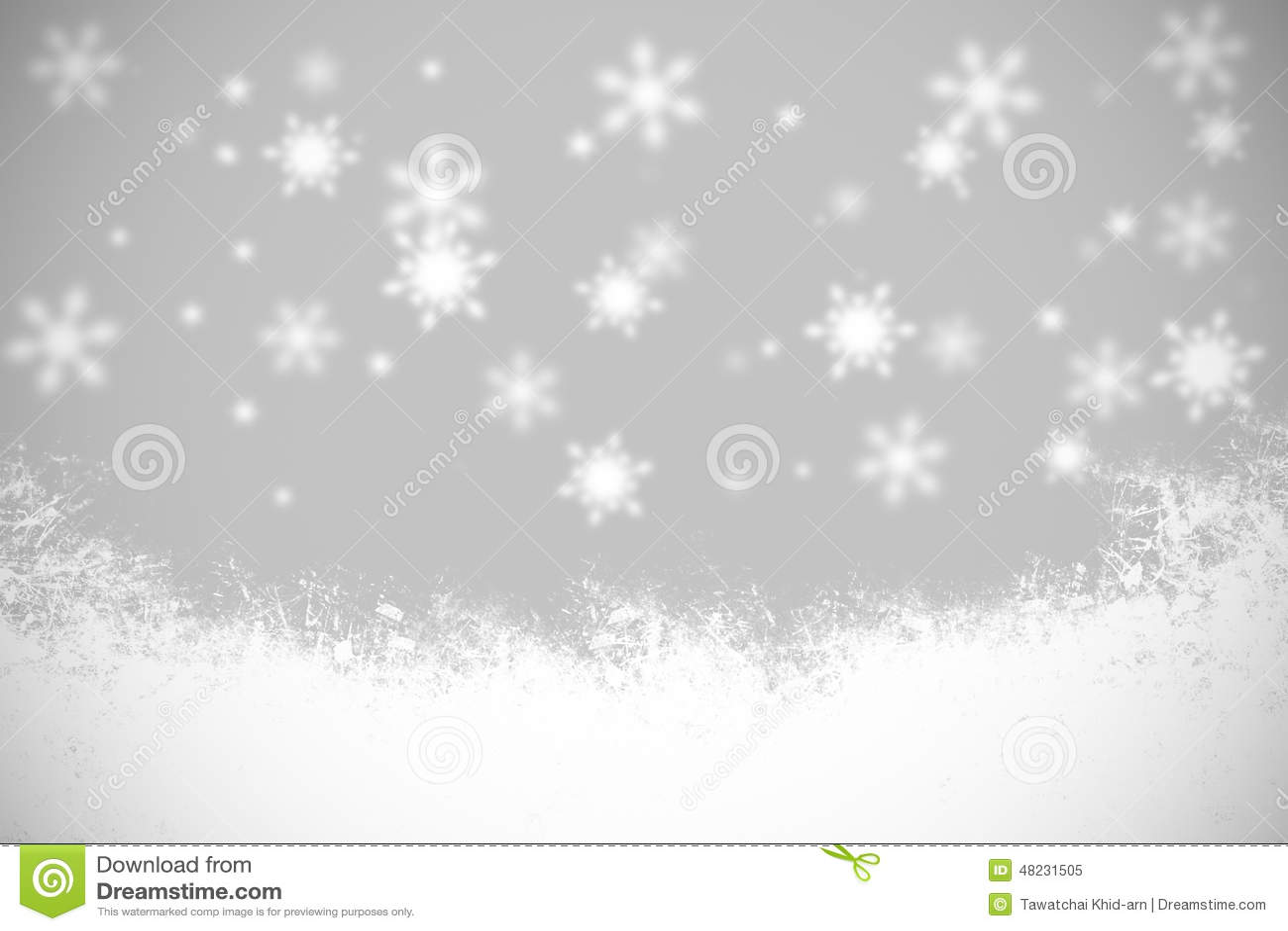 Fiocchi Di Neve E Luce In Bianco E Nero Del Fondo Di Natale