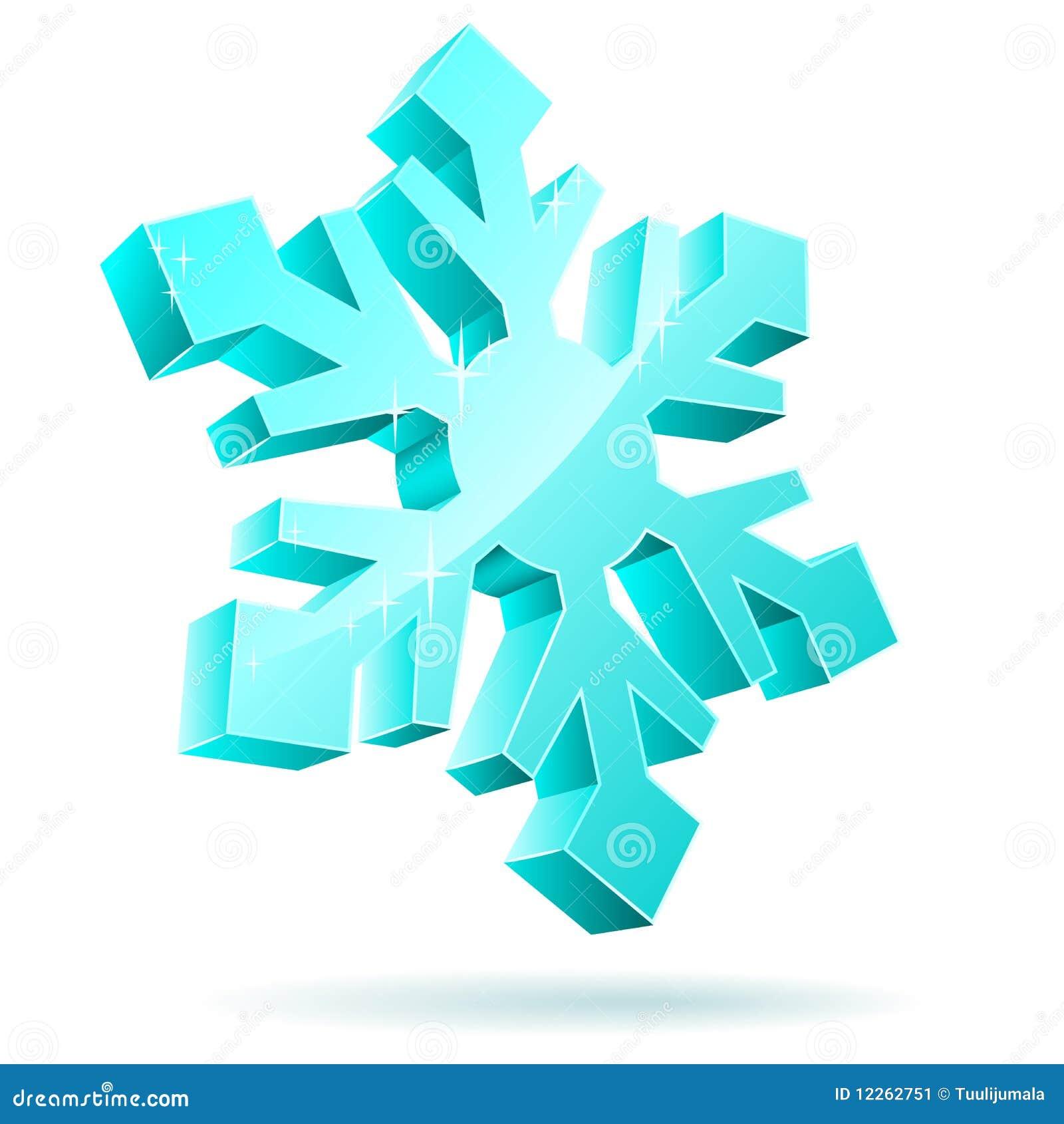 Fiocco di neve 3d illustrazione vettoriale illustrazione for Fiocco di neve da ritagliare