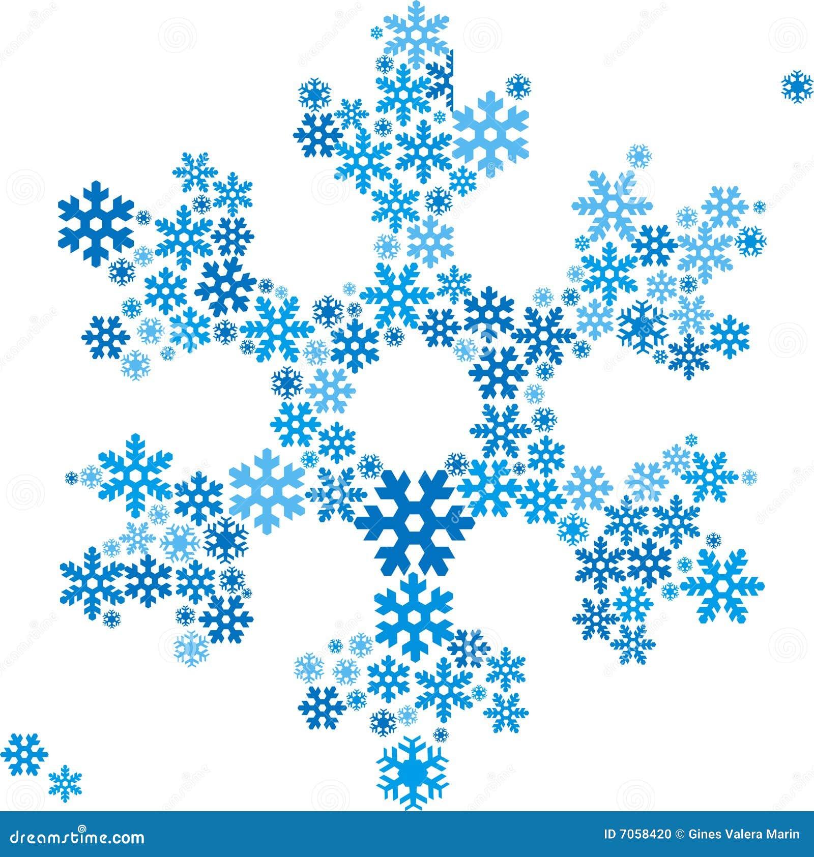 Fiocco di neve illustrazione vettoriale immagine di for Fiocco di neve da ritagliare