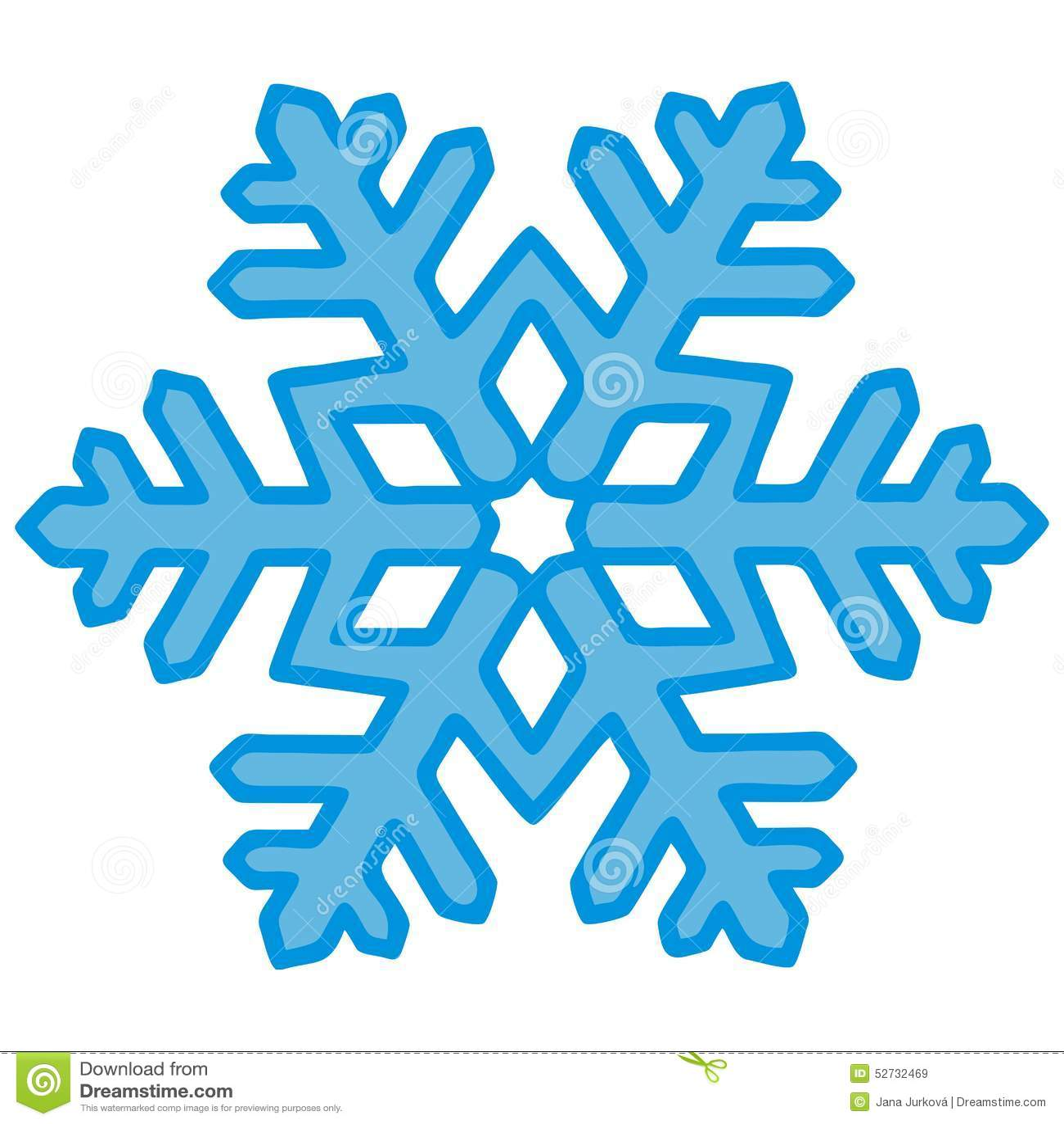 Fiocco di neve contorno blu illustrazione vettoriale for Fiocco di neve da ritagliare