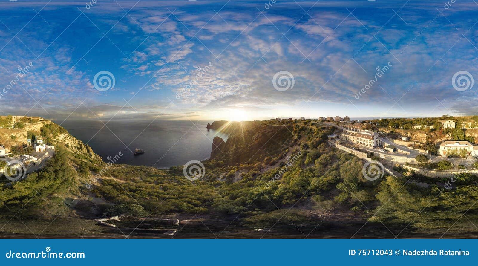 Fiolent Крым Панорама воздух 360 градусов