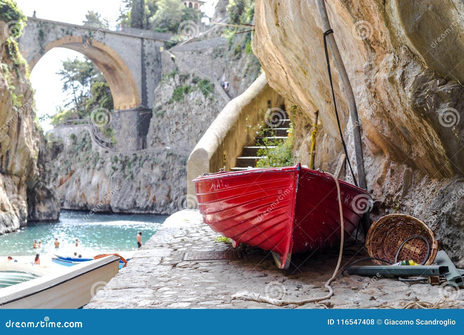 Fiordo di Furore海滩 狂怒海湾阿马尔菲海岸波西塔诺那不勒斯意大利